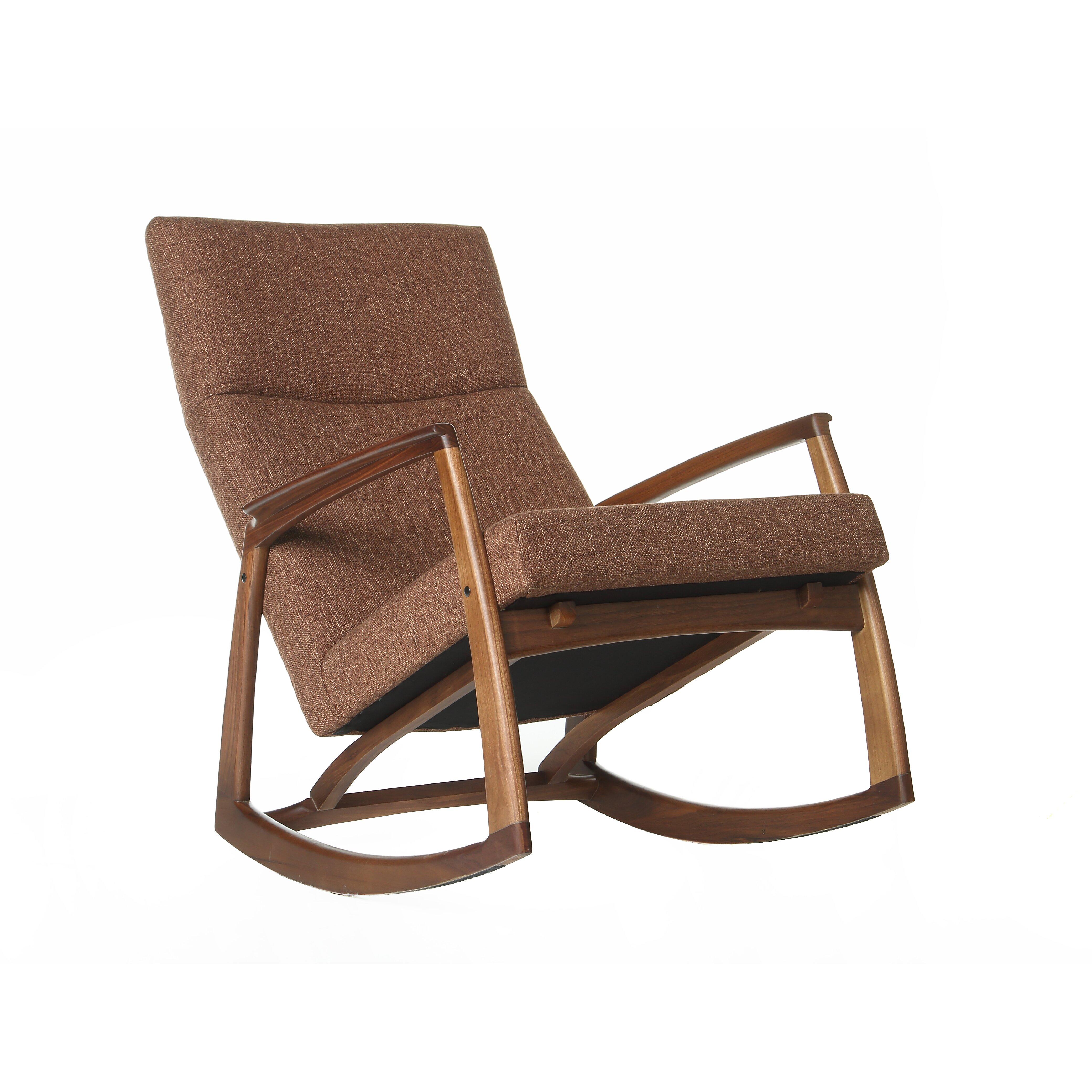 Design tree home hans wegner style rocking chair wayfair - Hans wegner style chair ...