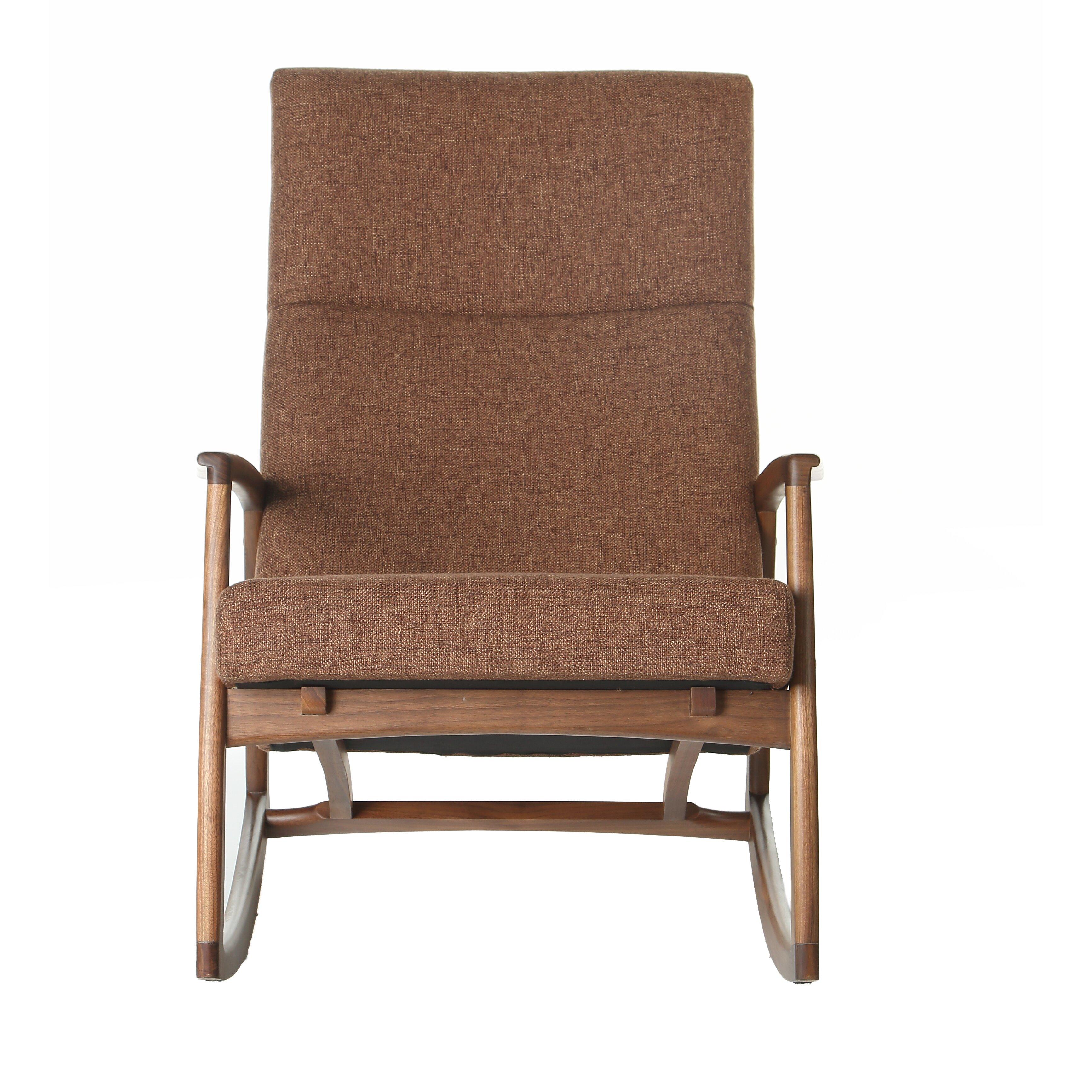 Design tree home hans wegner style rocking chair wayfair for Hans wegner queen chair
