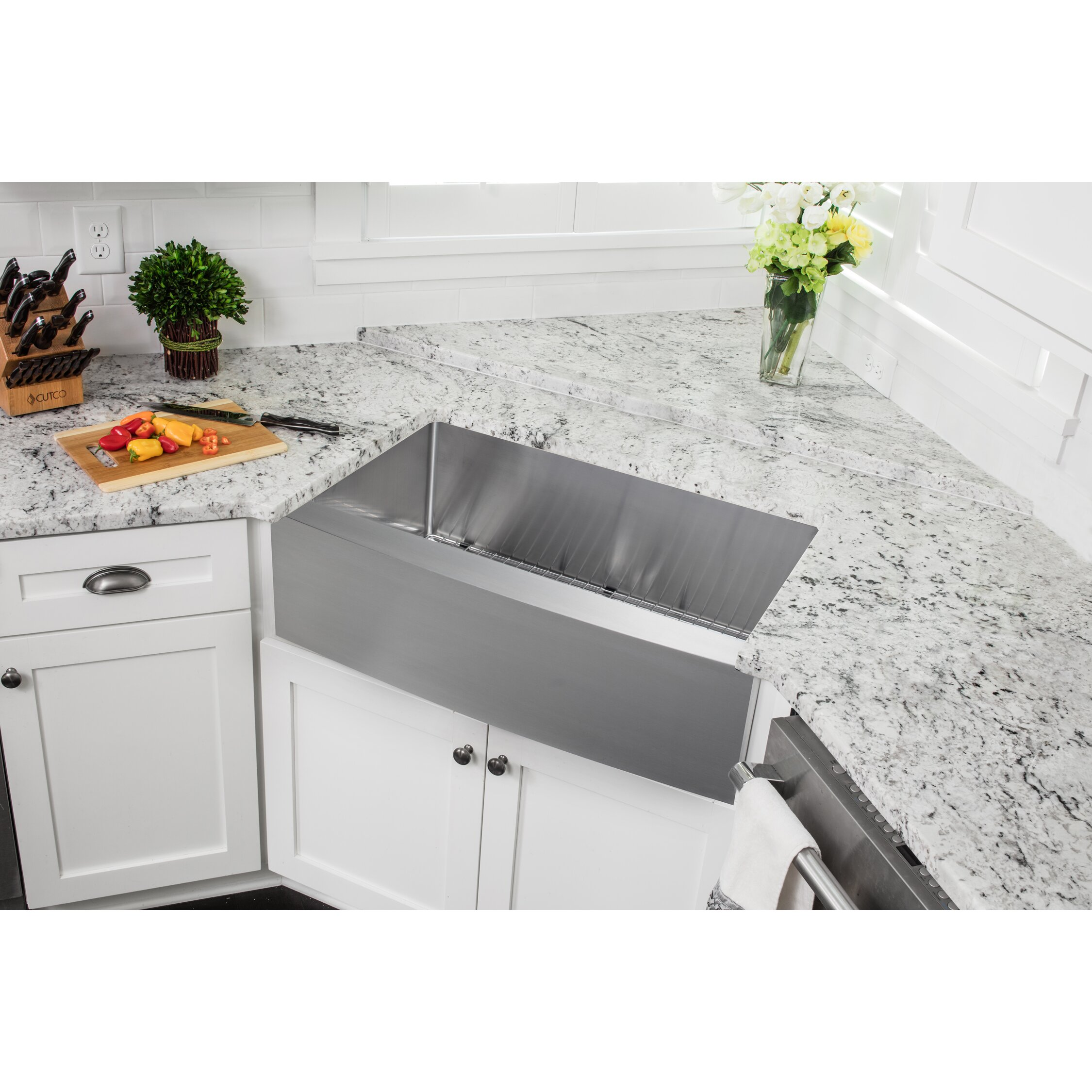 White Apron Kitchen Sink Soleil 35875 X 2075 Single Bowl Farmhouse Apron Kitchen Sink