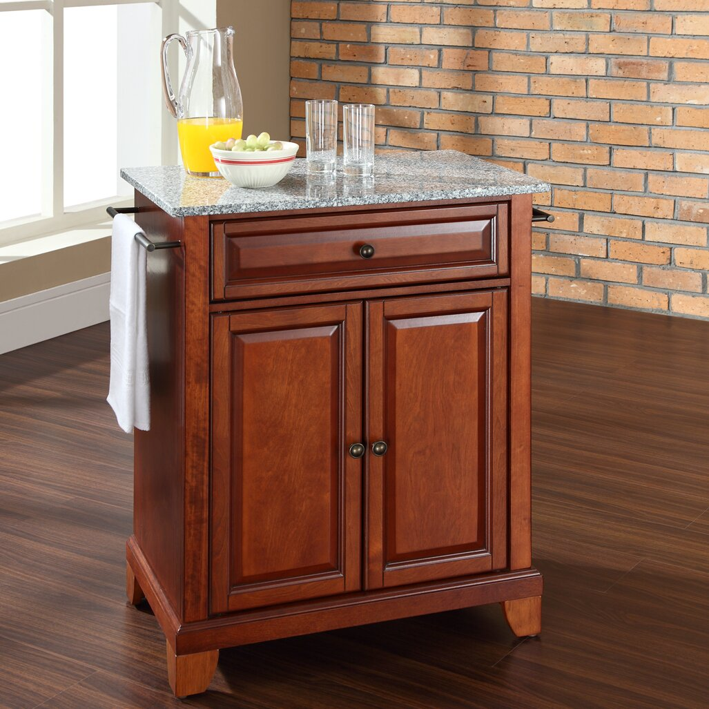 Darby Home Co Abbate Kitchen Cart With Granite Top Reviews