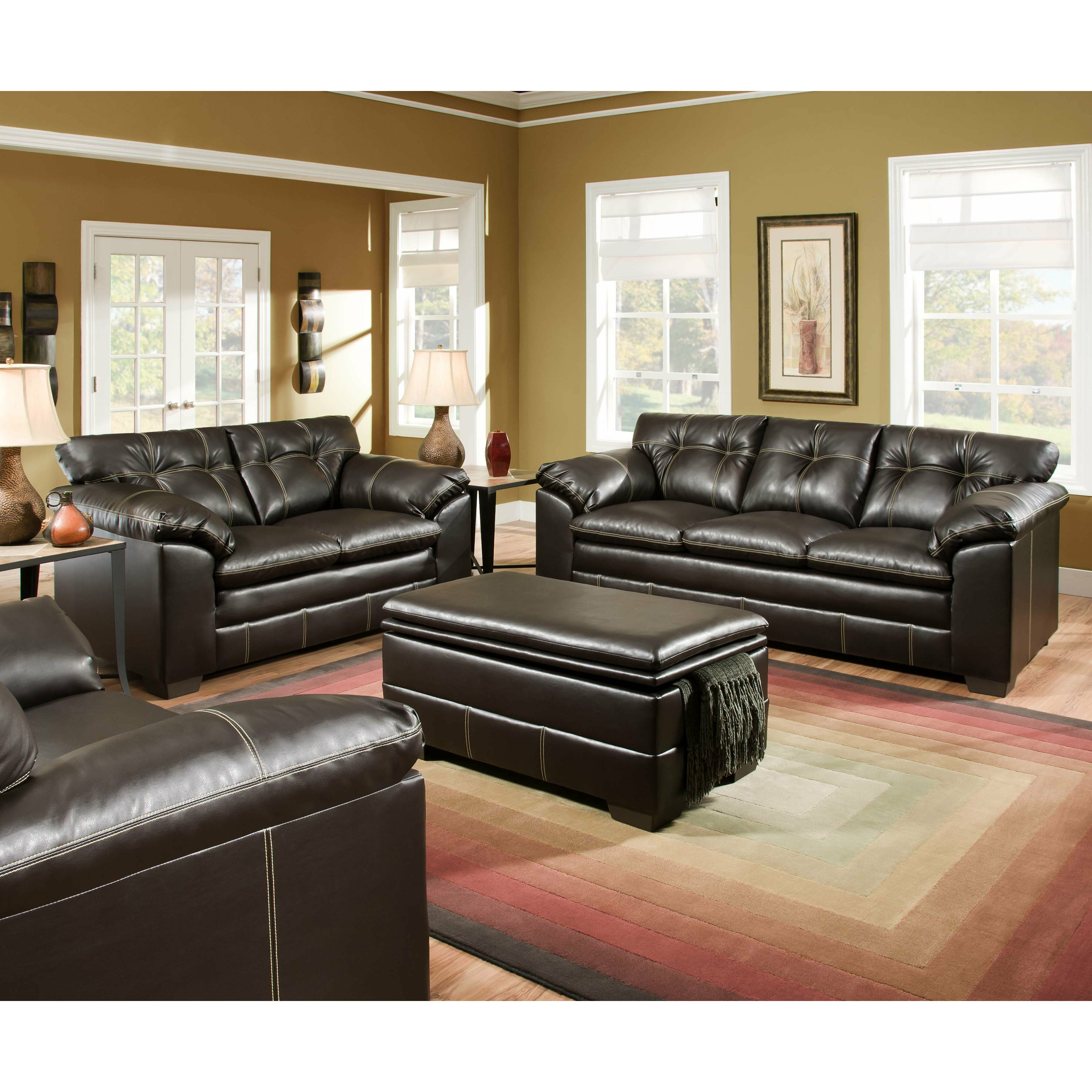 Living Room Furniture Leather And Upholstery Alcott Hill Simmons Upholstery Merriwood Sofa Reviews Wayfair