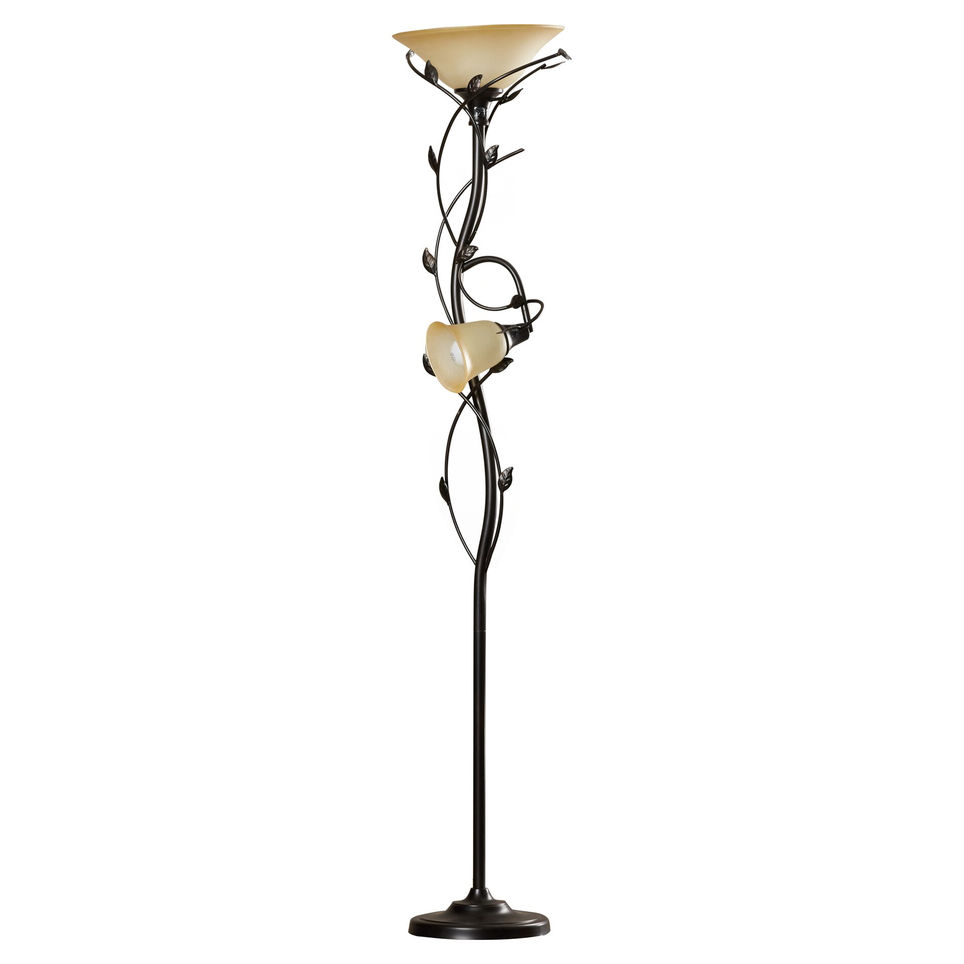 Alcott hill crystal 72quot led torchiere floor lamp reviews for Floor lamp vs torchiere