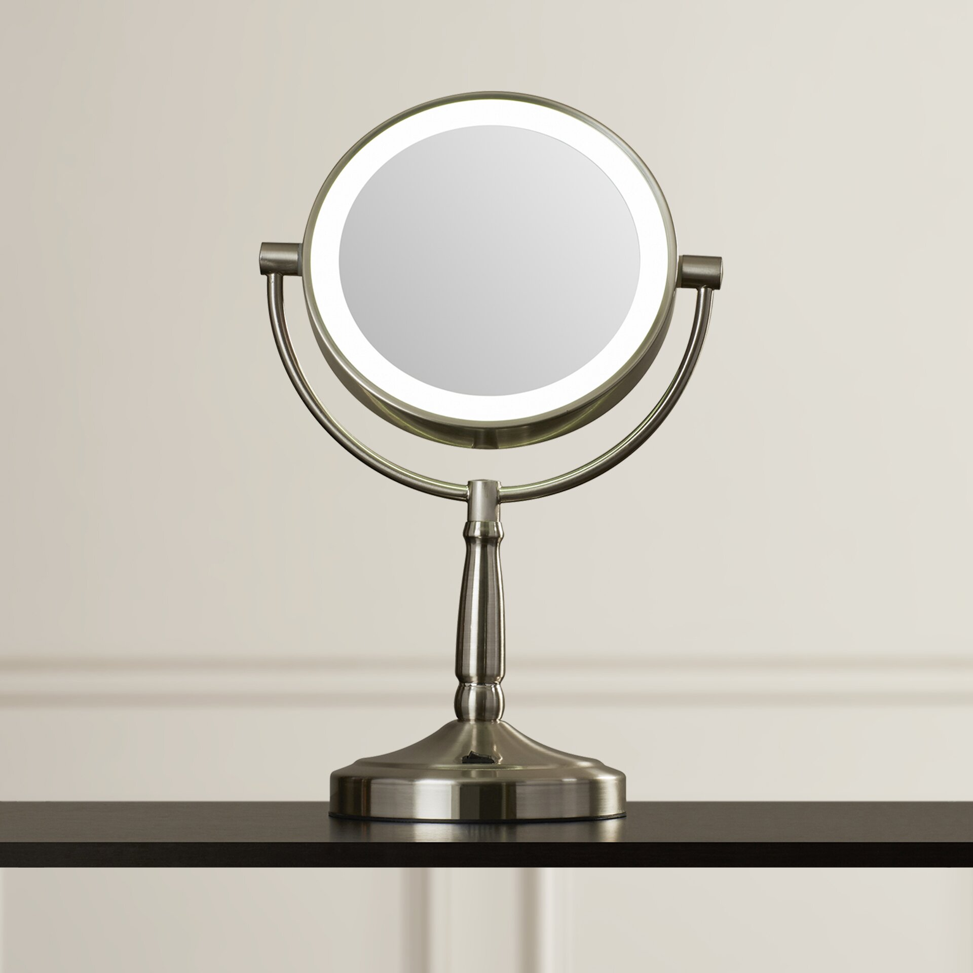 cordless dual sided led lighted vanity mirror mirrors with lights you  ll love wayfair conair conair   replacement bulb. Jilbere lighted makeup mirror replacement bulbs   Makeup Daily