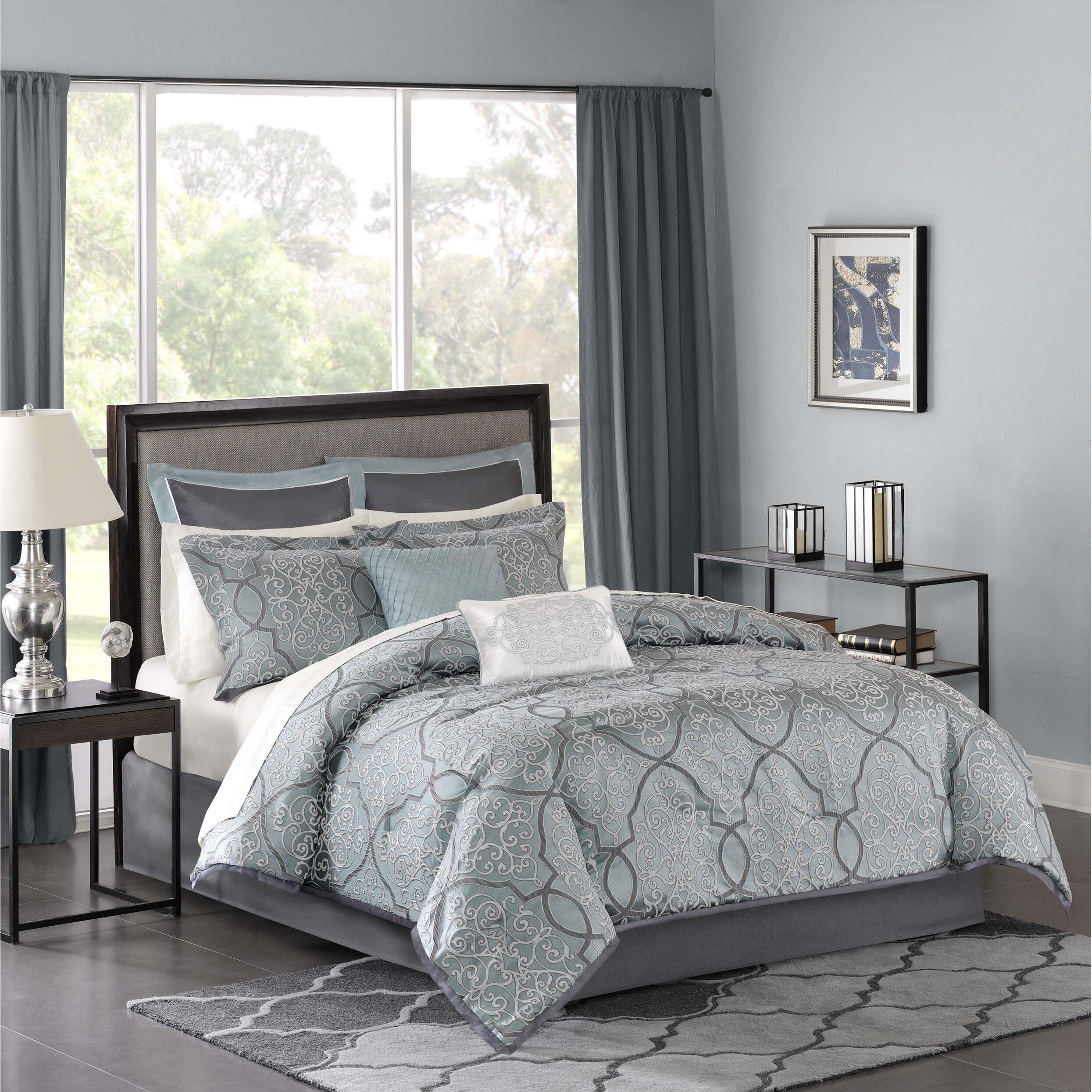 Bedspread designs texture - Dreiling 12 Piece Comforter Set