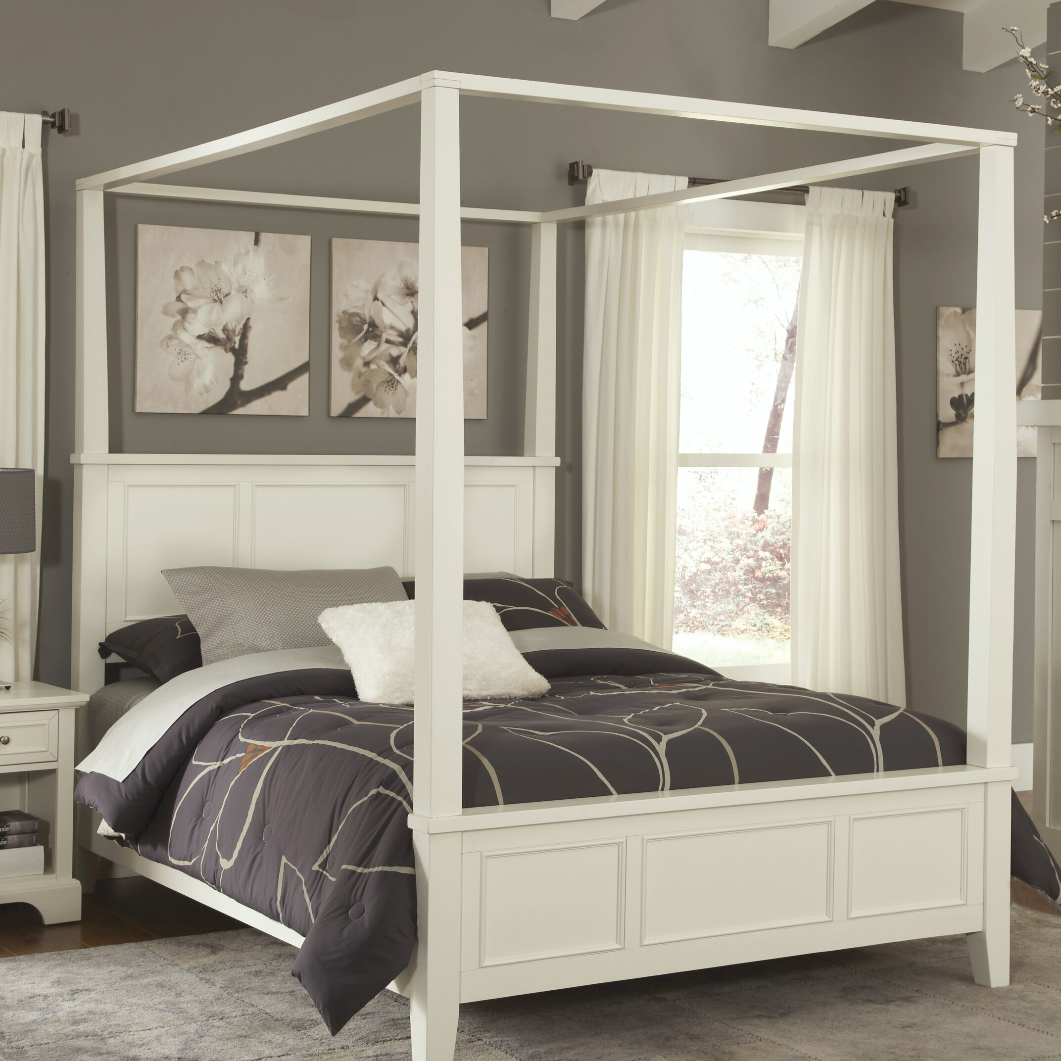 affordable canopy beds youull love wayfair with types of canopy beds.