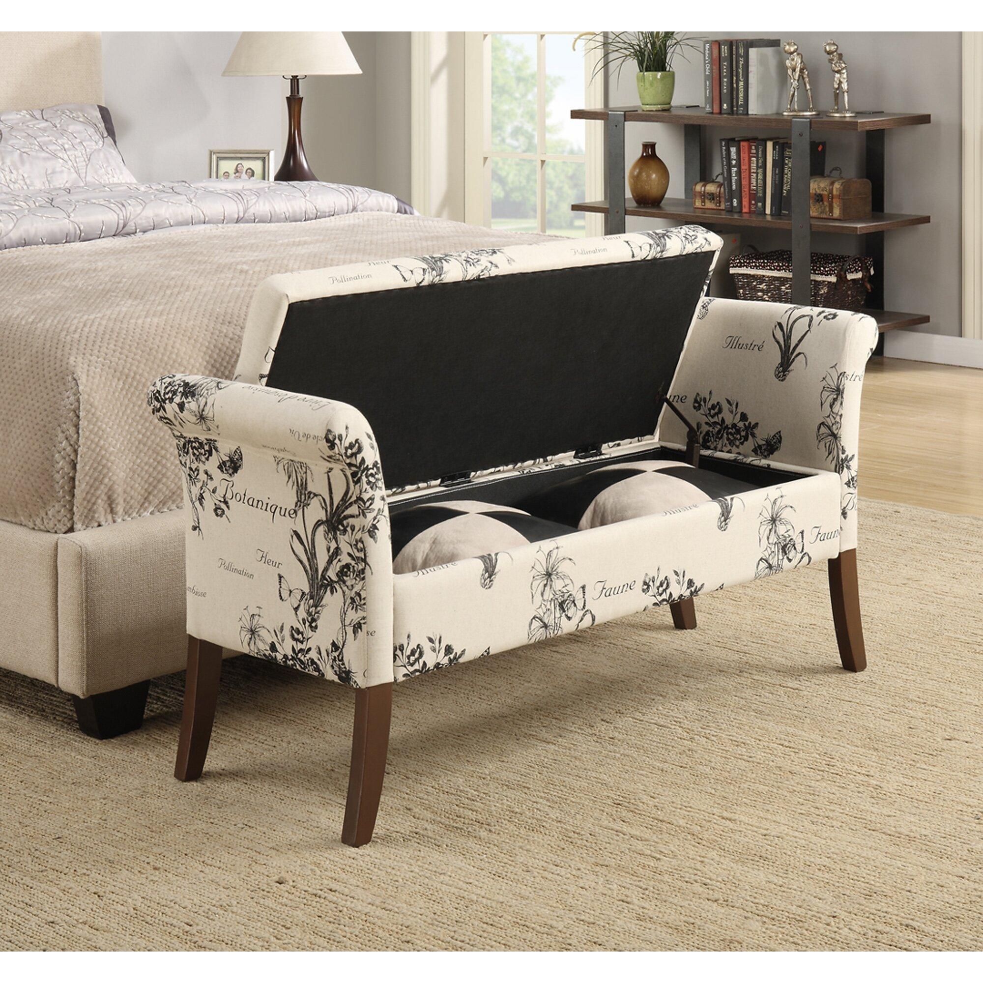 alcott hill eldon two seat storage bedroom bench reviews. Black Bedroom Furniture Sets. Home Design Ideas