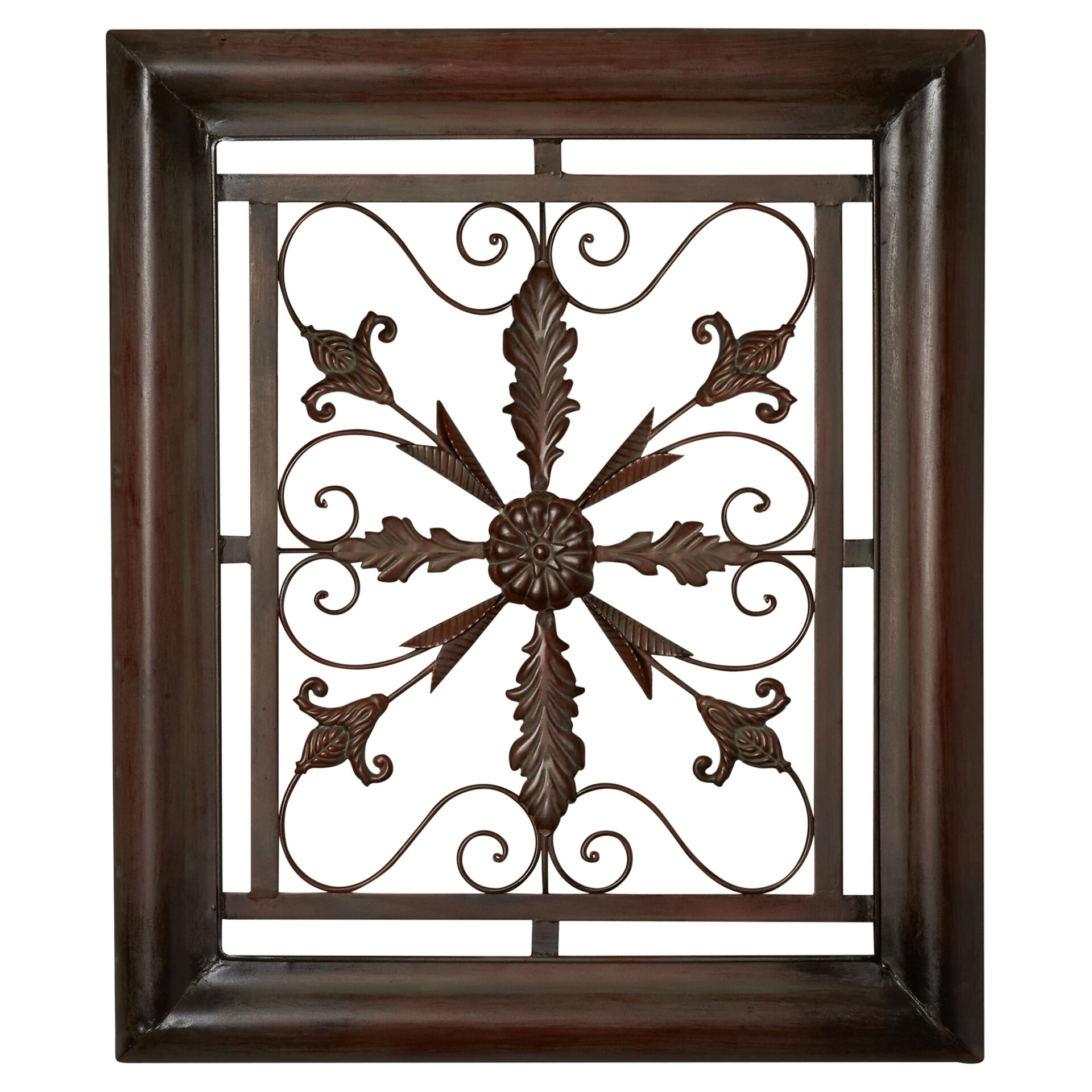 Square Metal Wall Decor Charlton Home Bayliss Square Scroll Wall Decor Reviews Wayfair