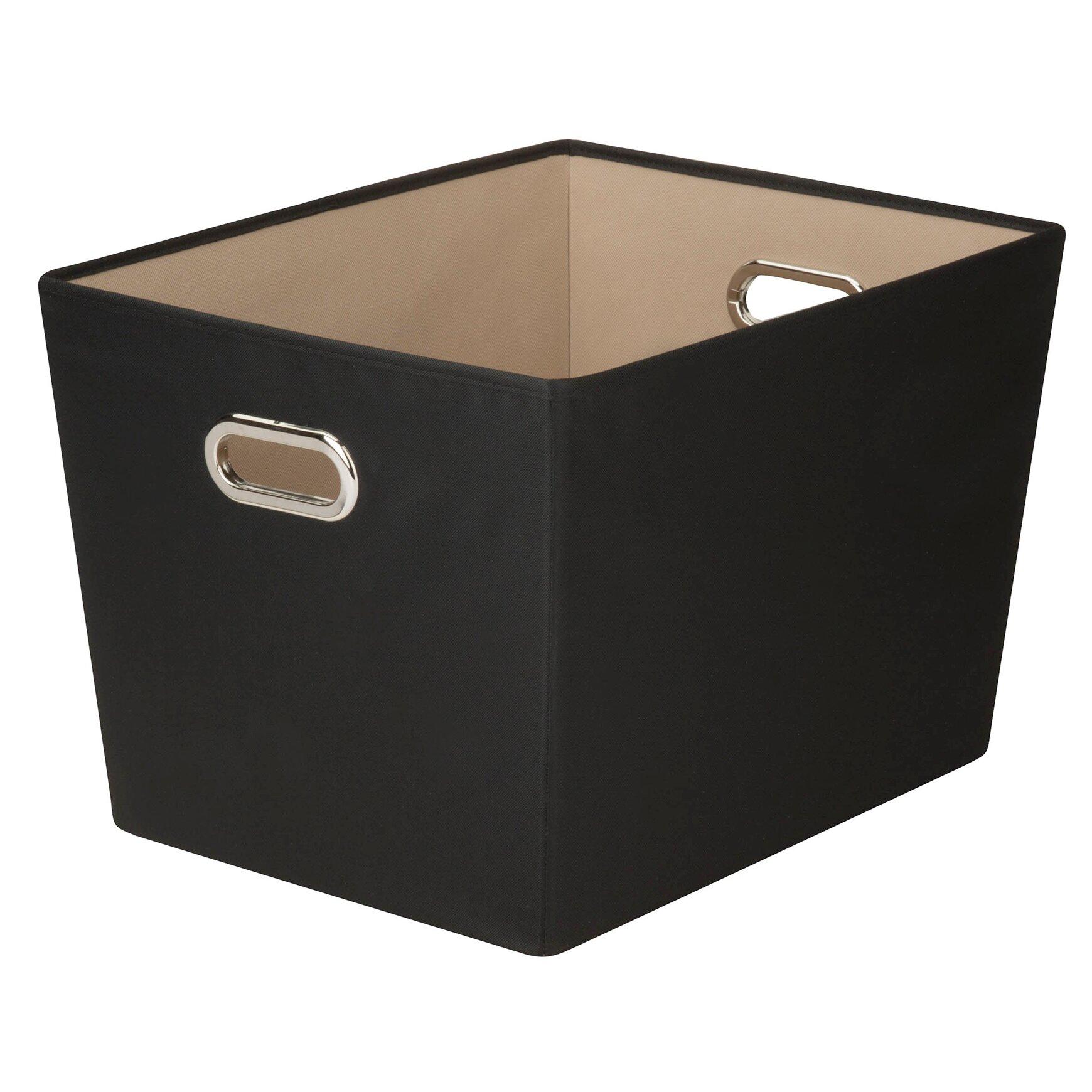 Closet storage bins and baskets - Benson Canvas Storage Bin