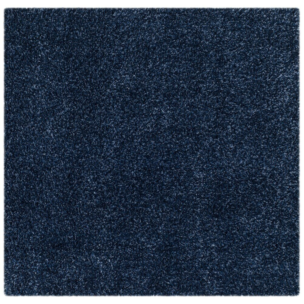 Varick Gallery Boice Navy Blue Solid Rug Amp Reviews