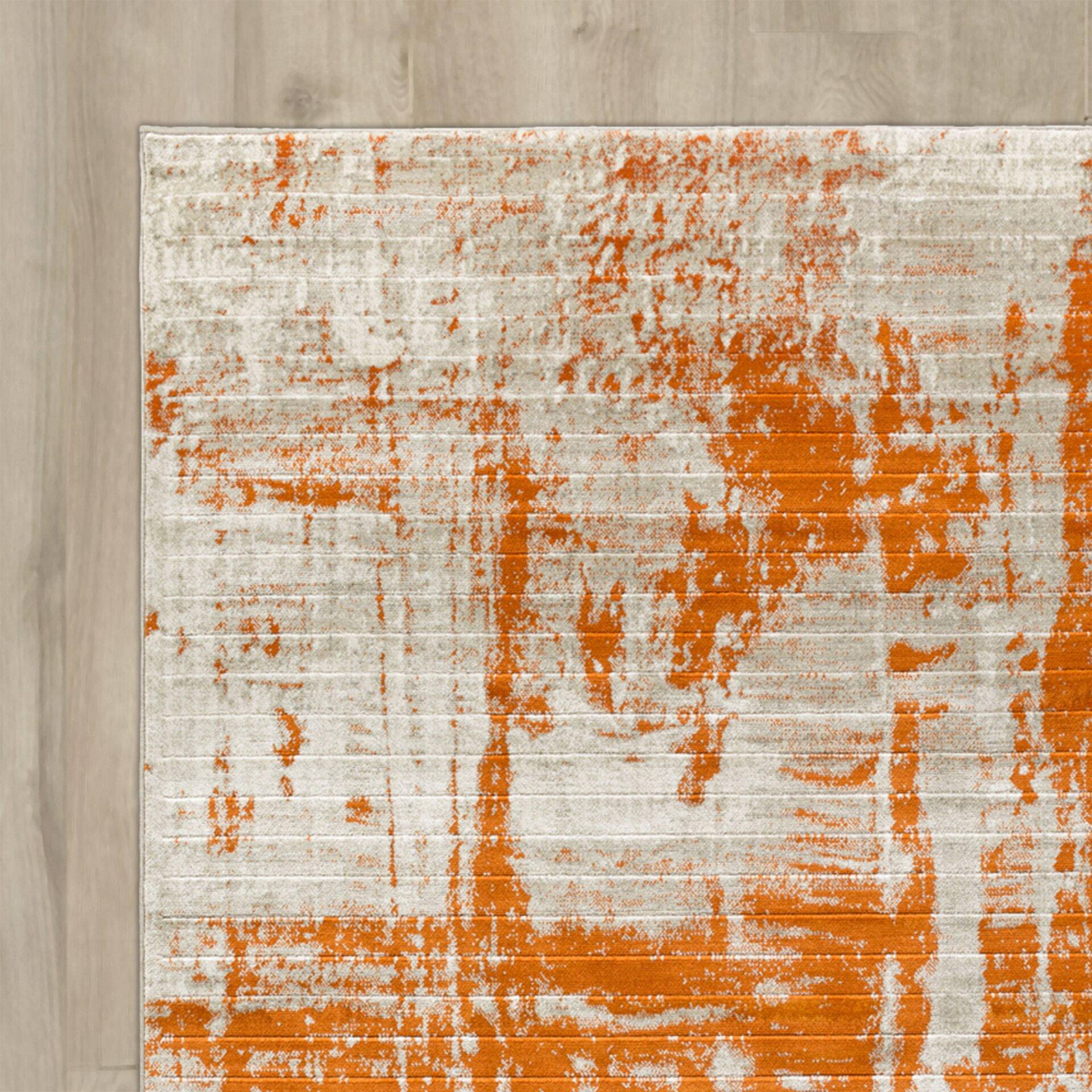Varick Galleryu0026reg; Ferrin Light Gray/Burnt Orange Area Rug