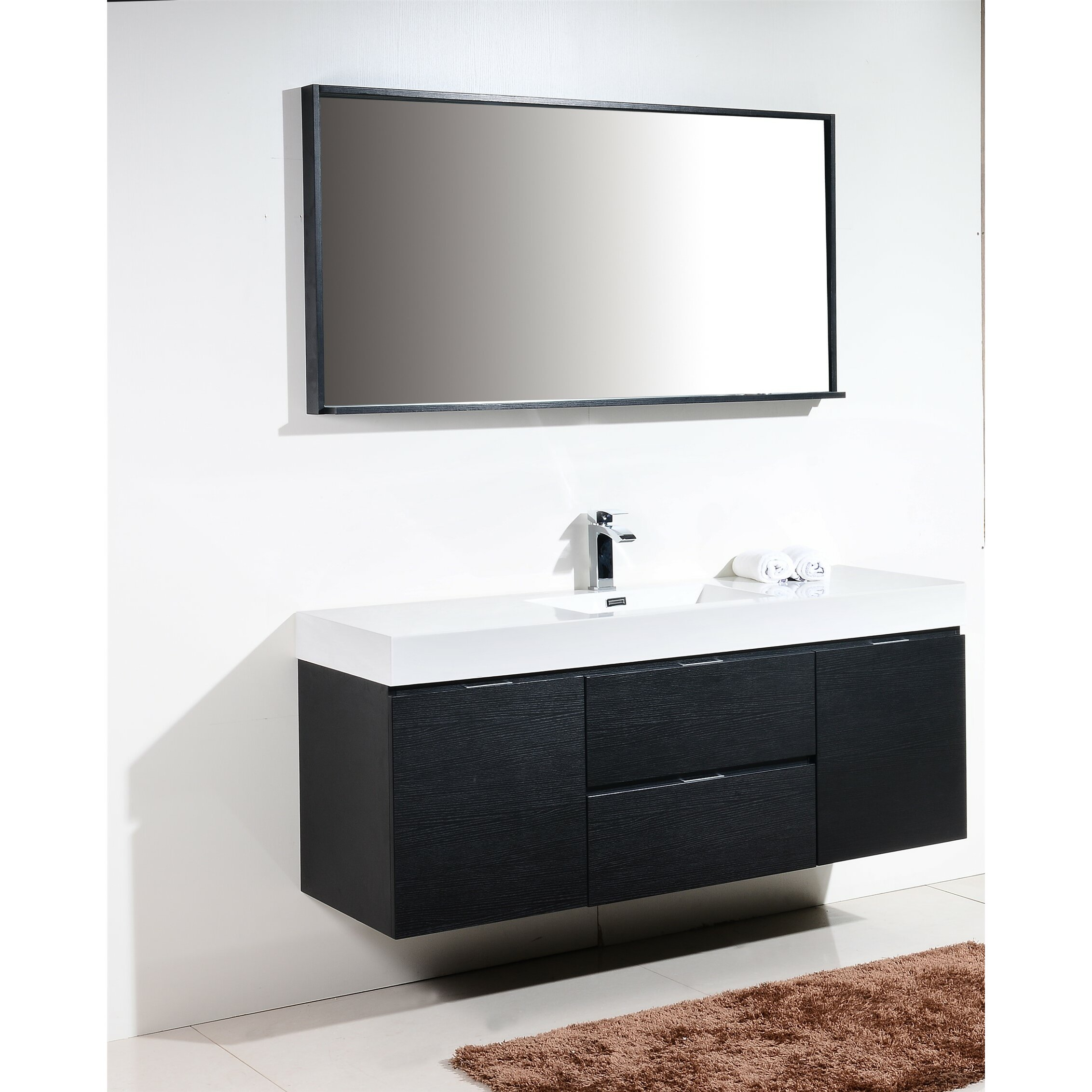 Wade Logan Tenafly 60 Single Wall Mount Modern Bathroom