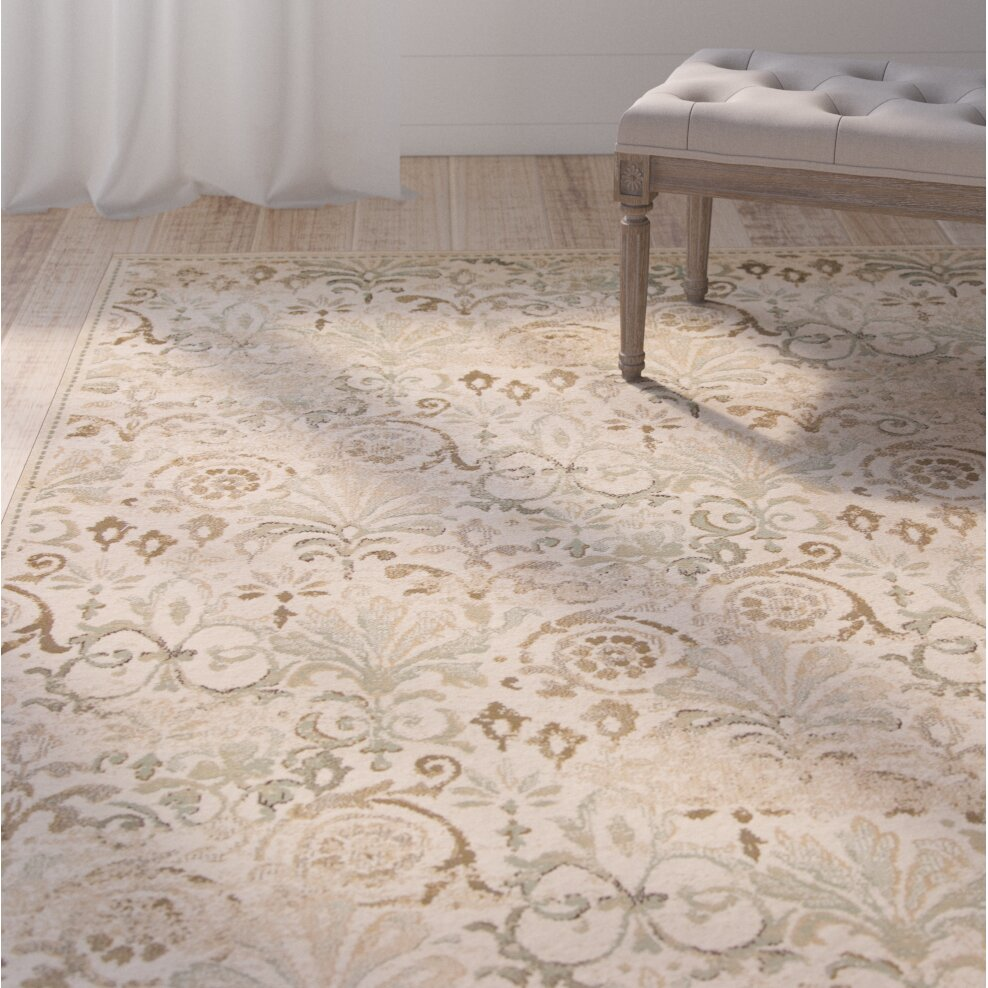 Lark Manor Giroflee Ivory Taupe Sage Area Rug Amp Reviews