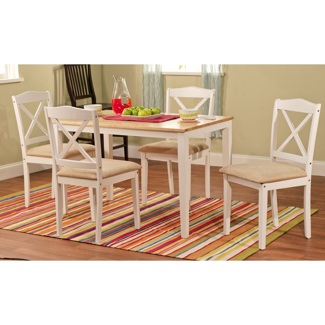 august grove scarlett 5 piece dining set reviews wayfair way