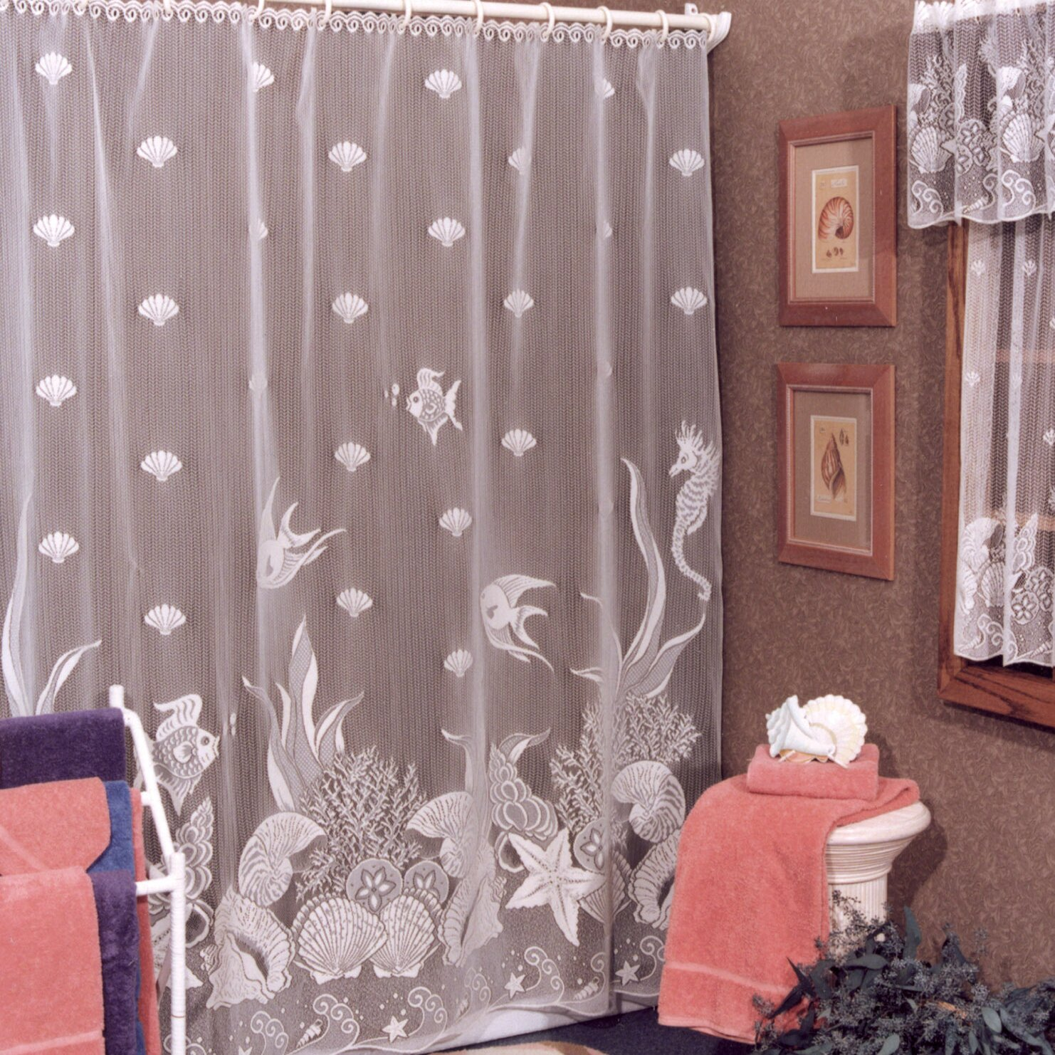 Vinyl Christmas Shower Curtain