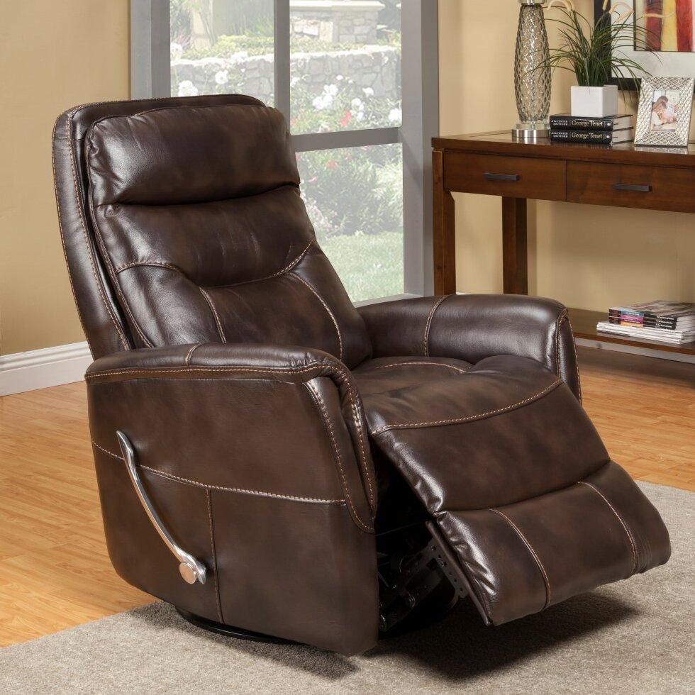 Loon Peak Cohoba Swivel Glider Recliner Reviews – Leather Swivel Glider Chair