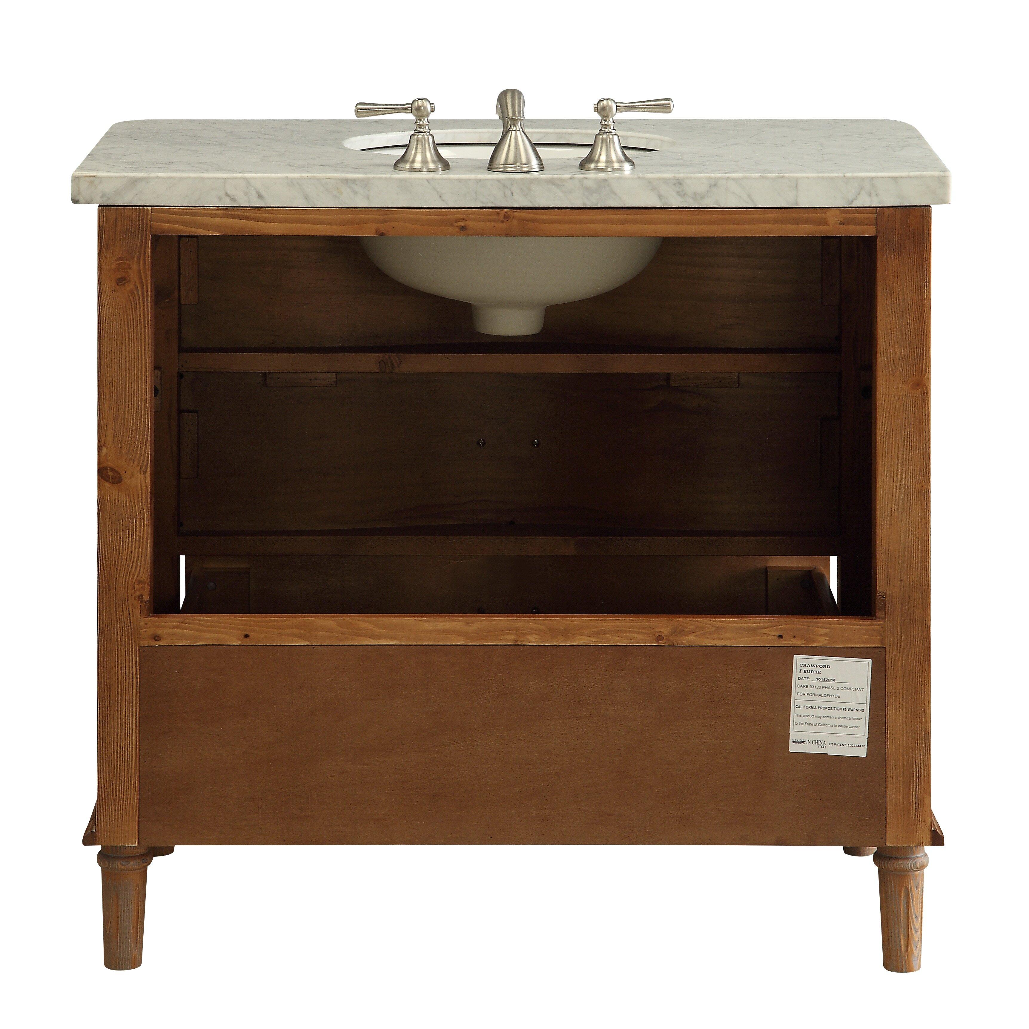 Driftwood Bathroom Vanity Loon Peak Vanna 36 Bathroom Vanity Set Reviews Wayfair