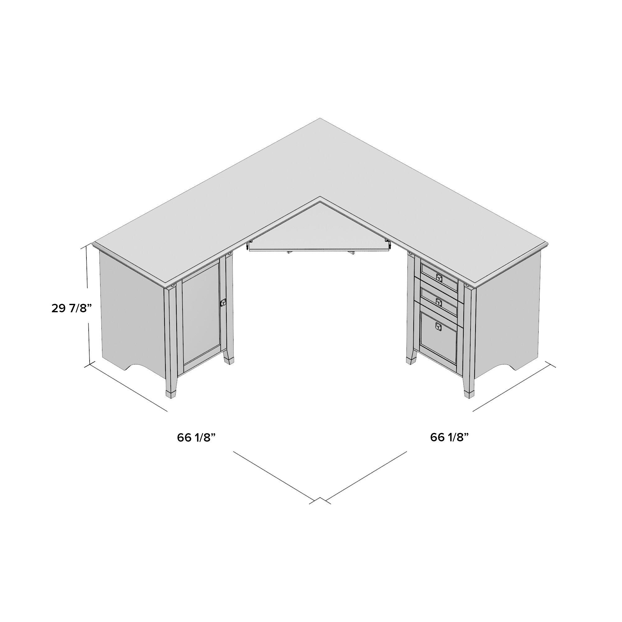 Loon Peak Newdale Corner L Shaped Computer Desk Amp Reviews