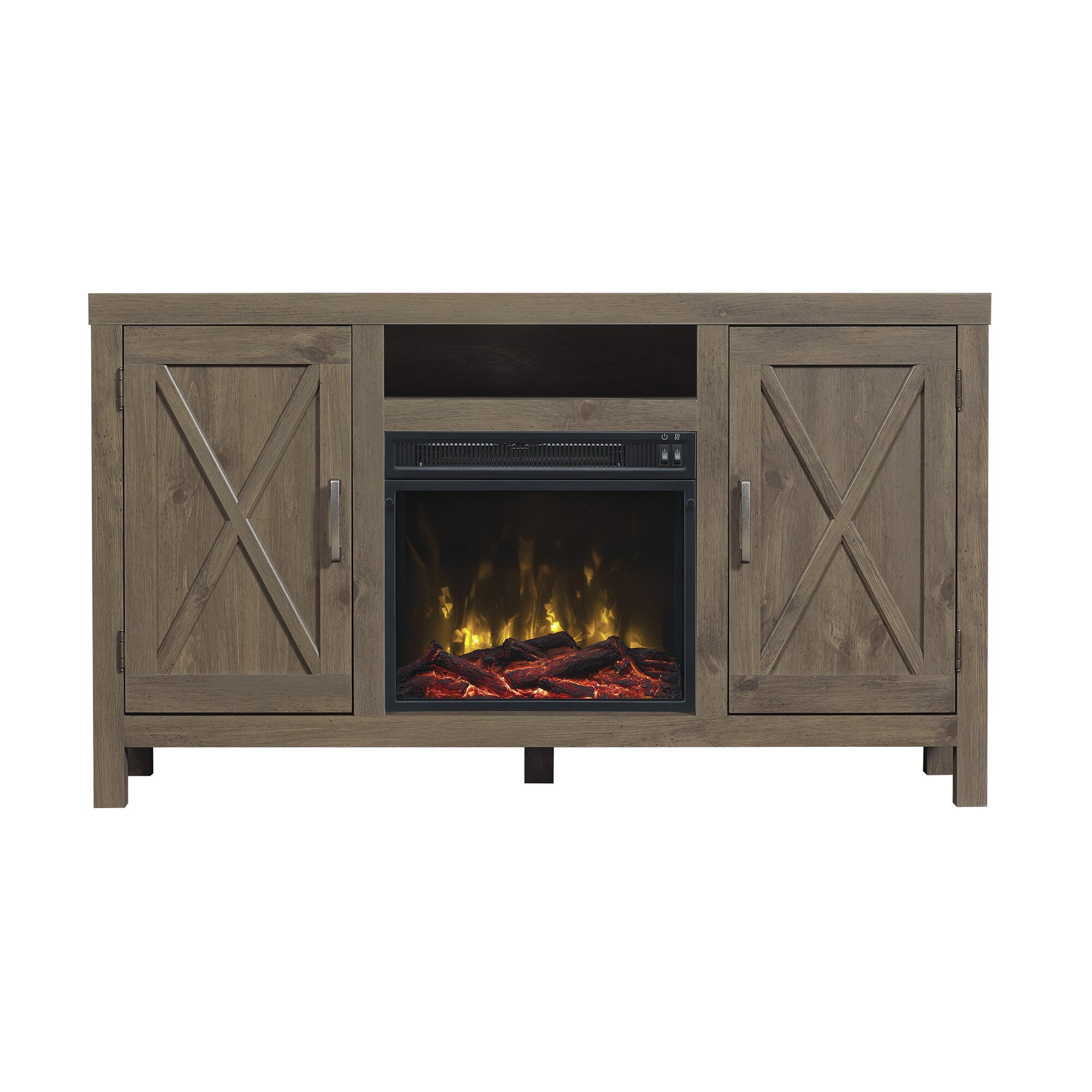 White tv stand with electric fireplace - Dodson Tv Stand With Electric Fireplace