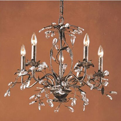 House of Hampton 5Light Crystal Chandelier Reviews – Candle Crystal Chandelier
