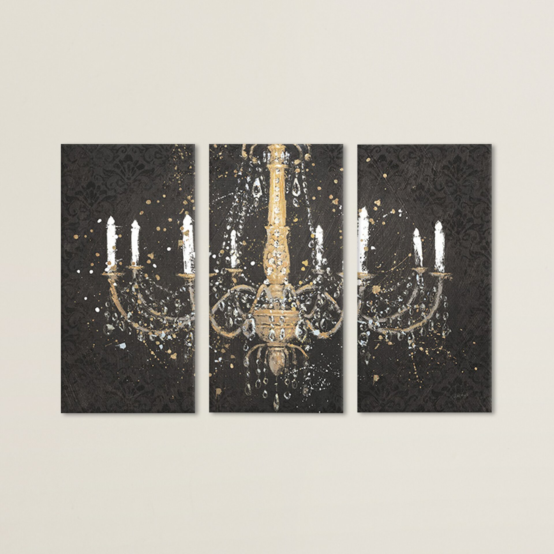 Grand Chandelier I 3 Piece Graphic Art on Canvas Set Reviews – Chandelier Canvas Art