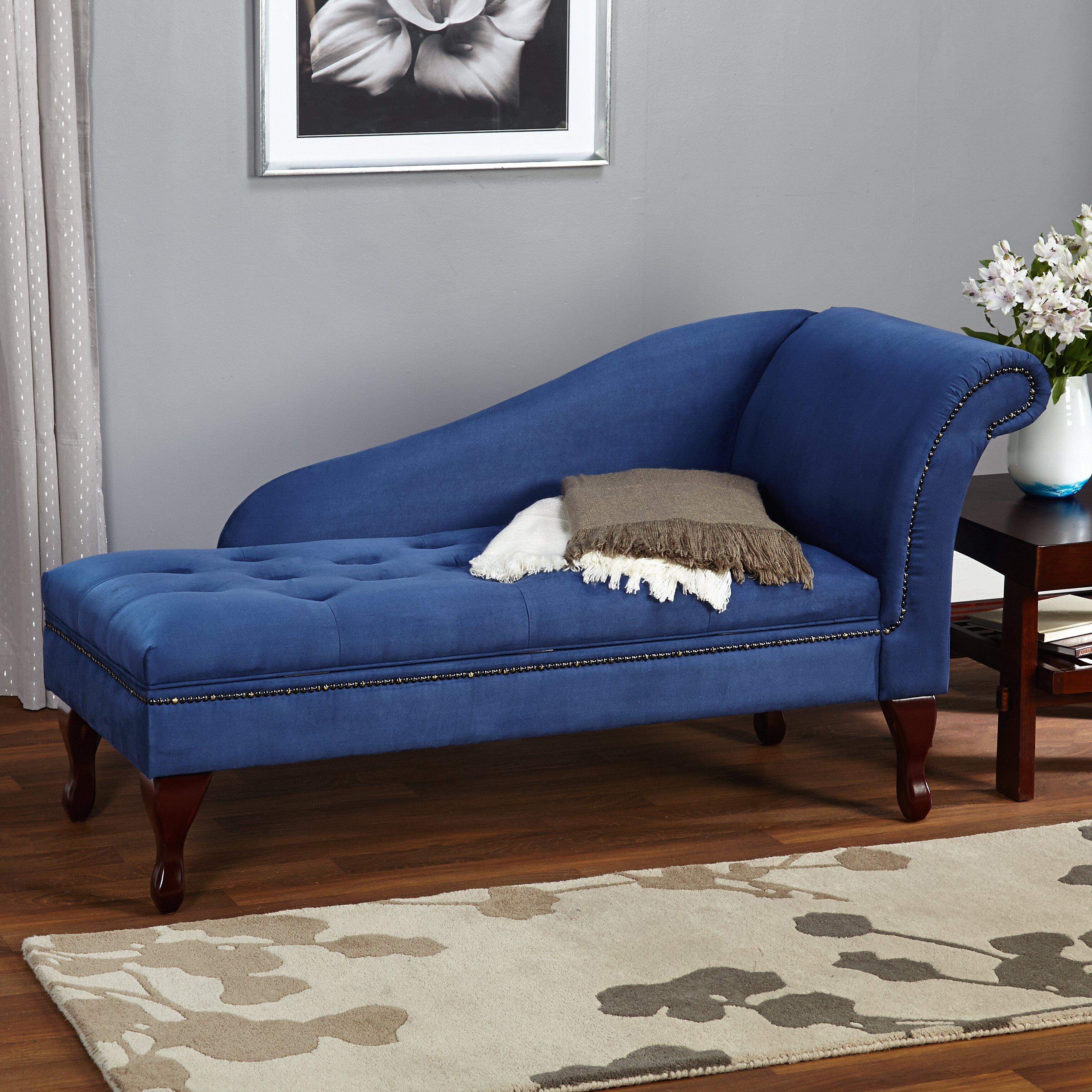 Shayla storage chaise lounge reviews joss main for Ashland chaise storage lounge