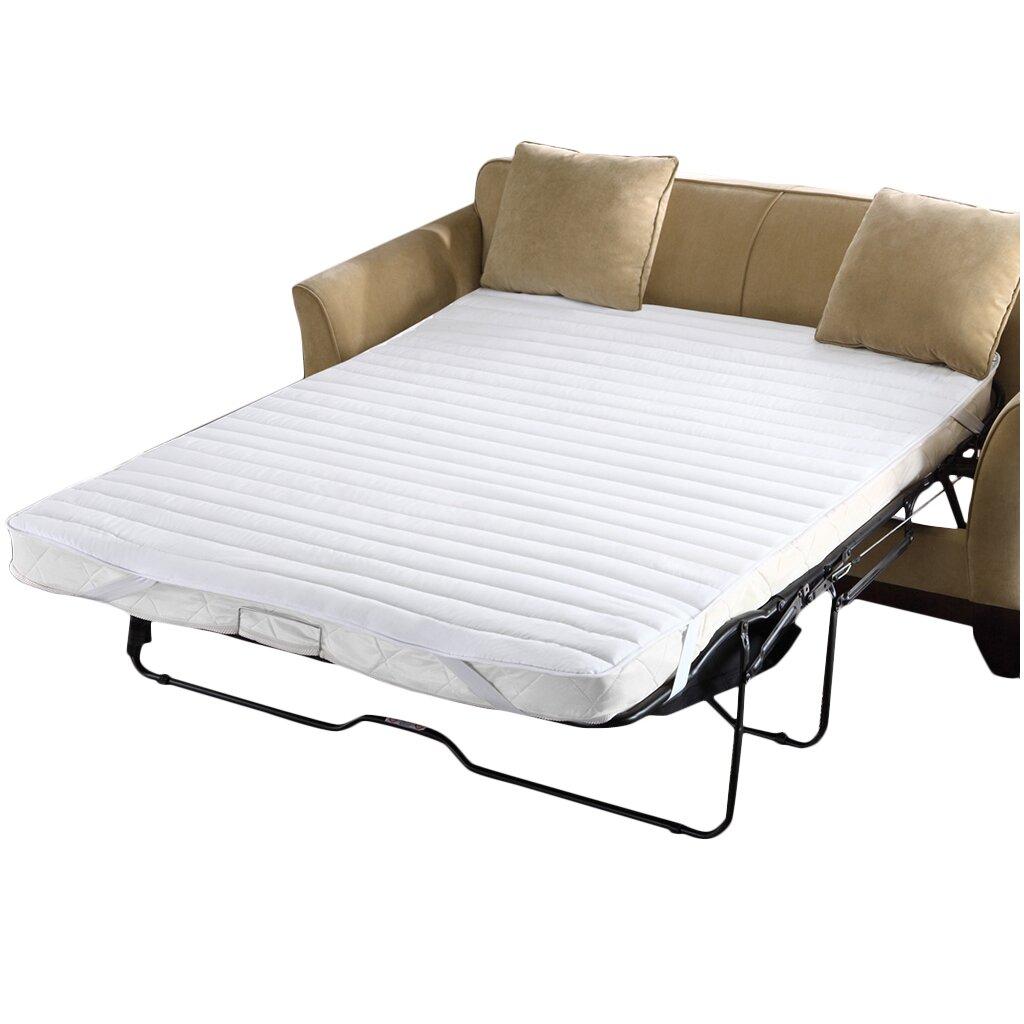 Comfort classics waterproof microfiber sofa bed mattress for Sofa bed mattress pad waterproof