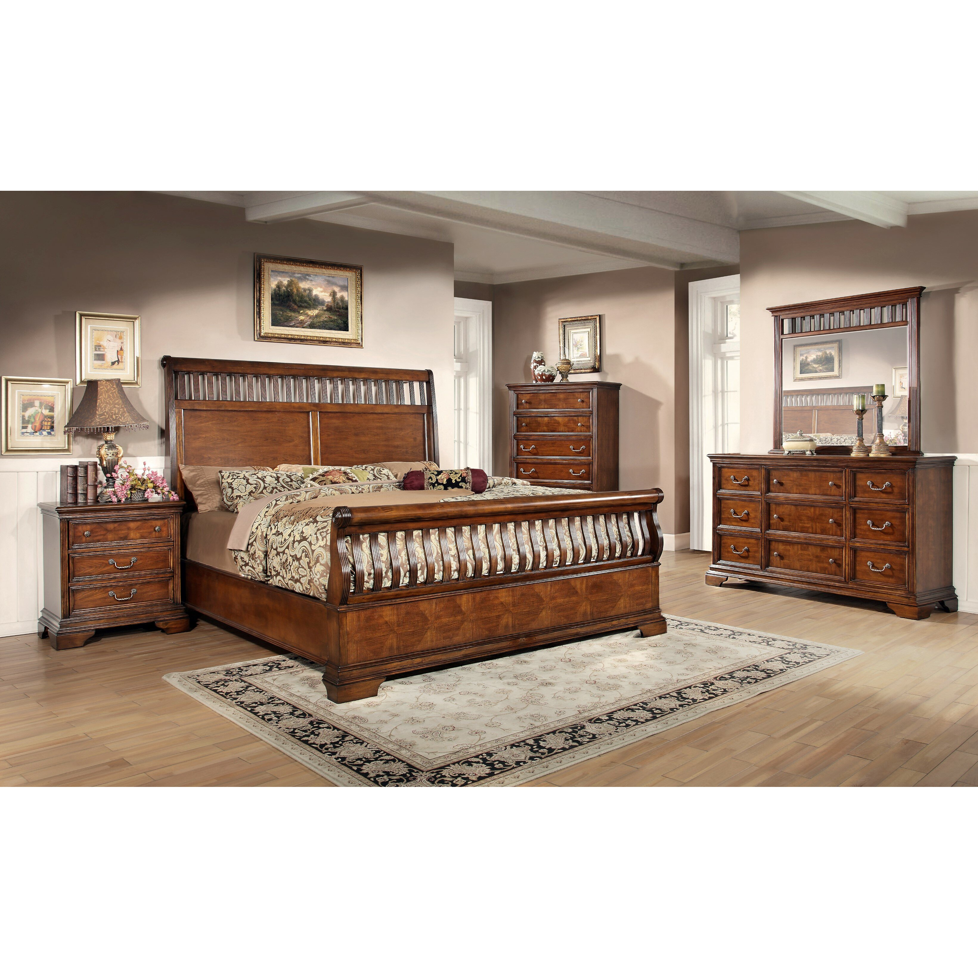 Fairfax Home Collections Waverly Place Sleigh Customizable Bedroom The Room Place Bedroom Sets