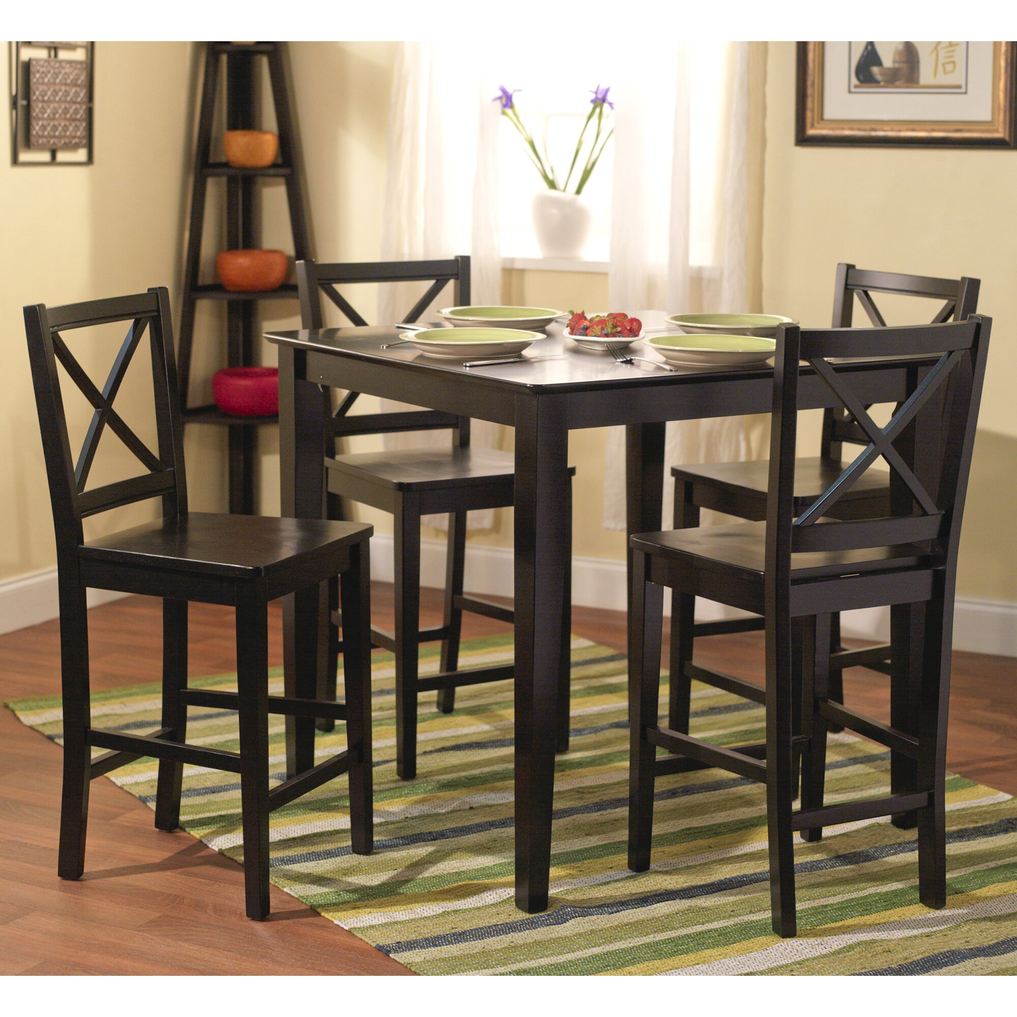 worthington 5 piece counter height dining set