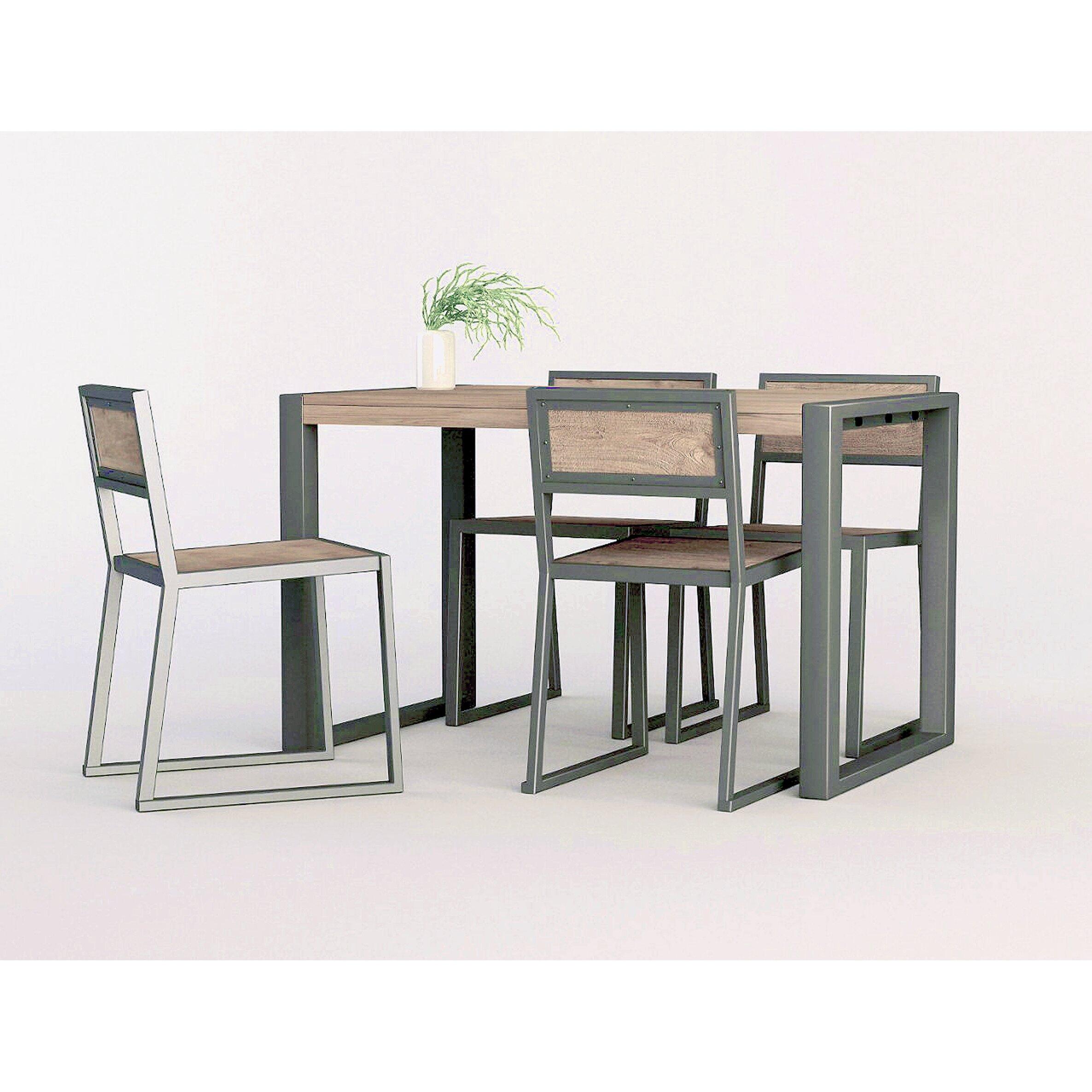 Industrial Dining Room Table Industrial 5 Piece Dining Set Reviews Allmodern