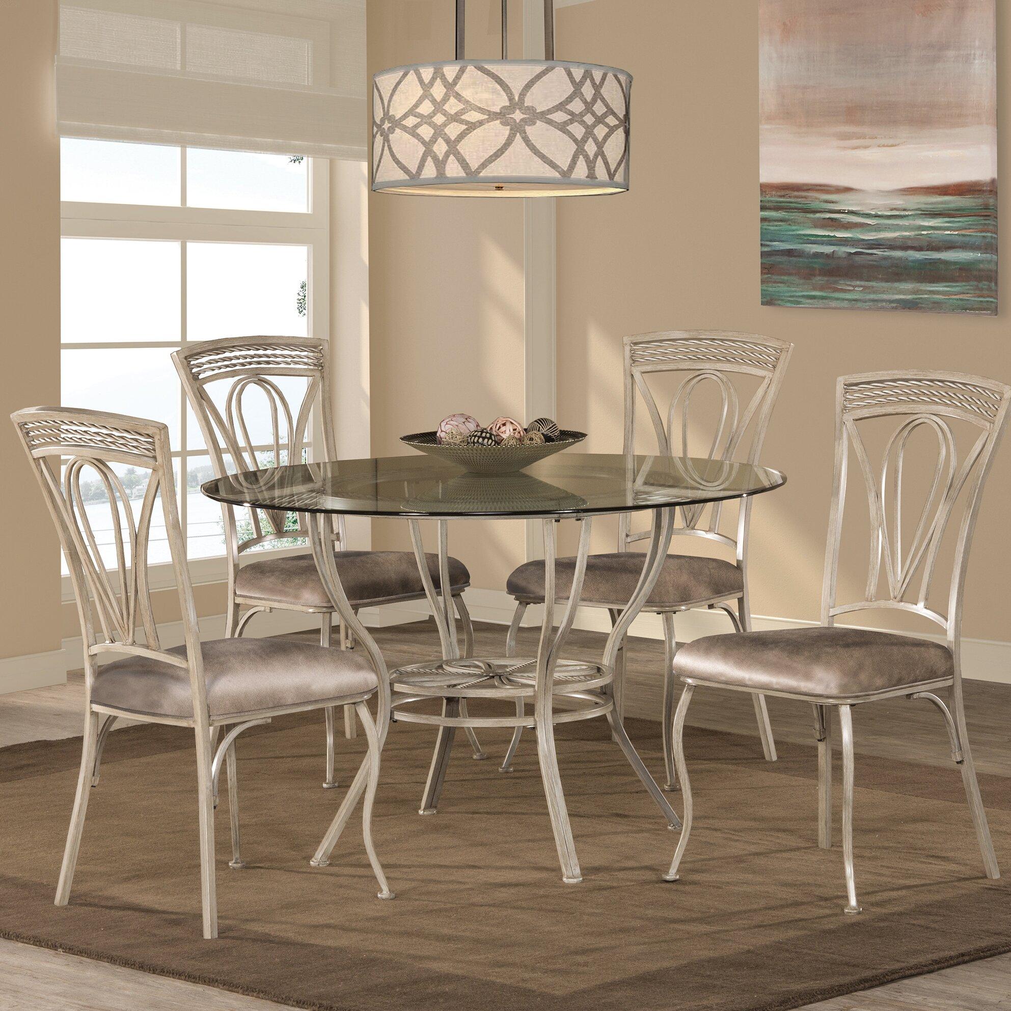 Fleur de lis living anton 5 piece dining set reviews for Living room 5 piece sets