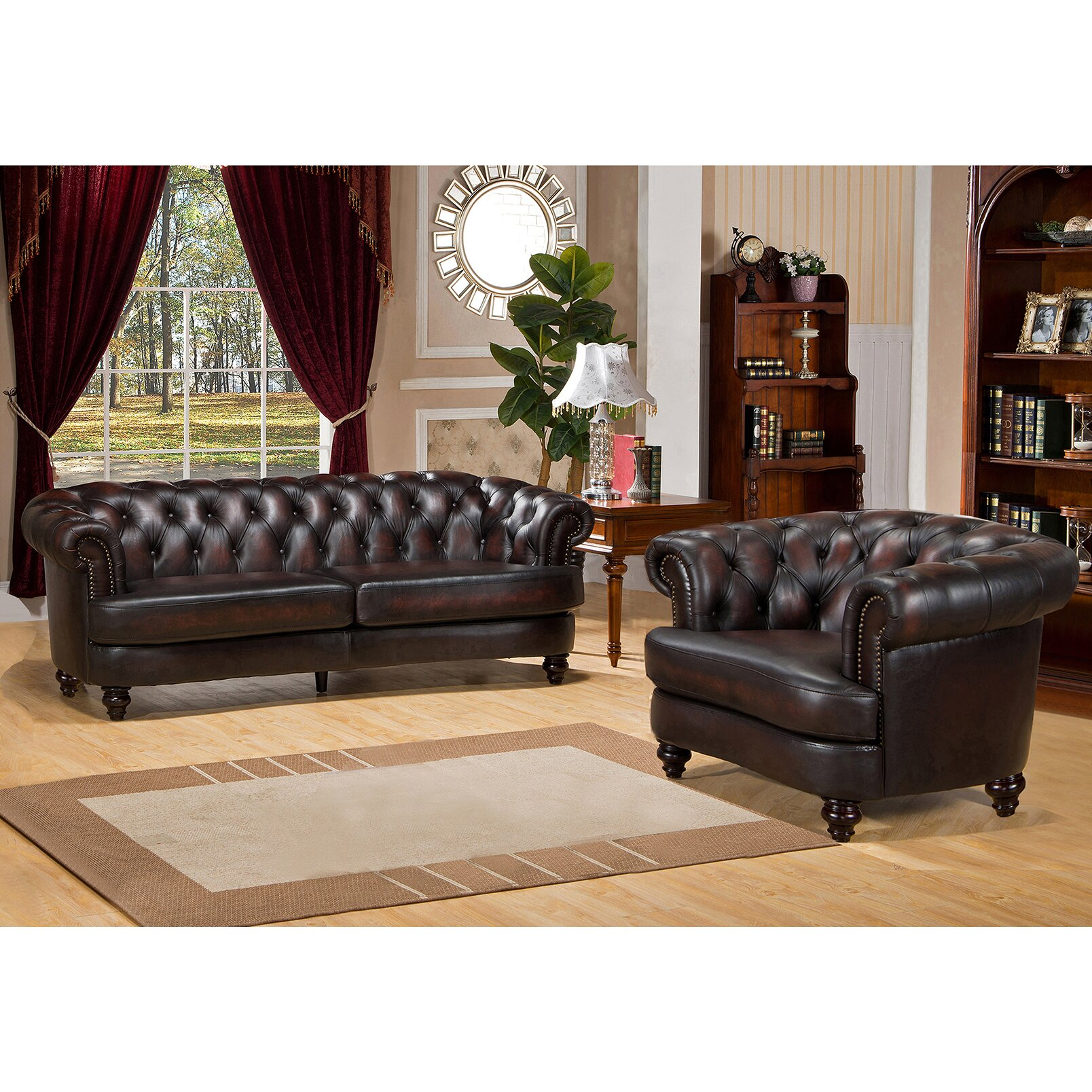 Leather Living Room Sets For Amax Roosevelt 2 Piece Leather Living Room Set Wayfair