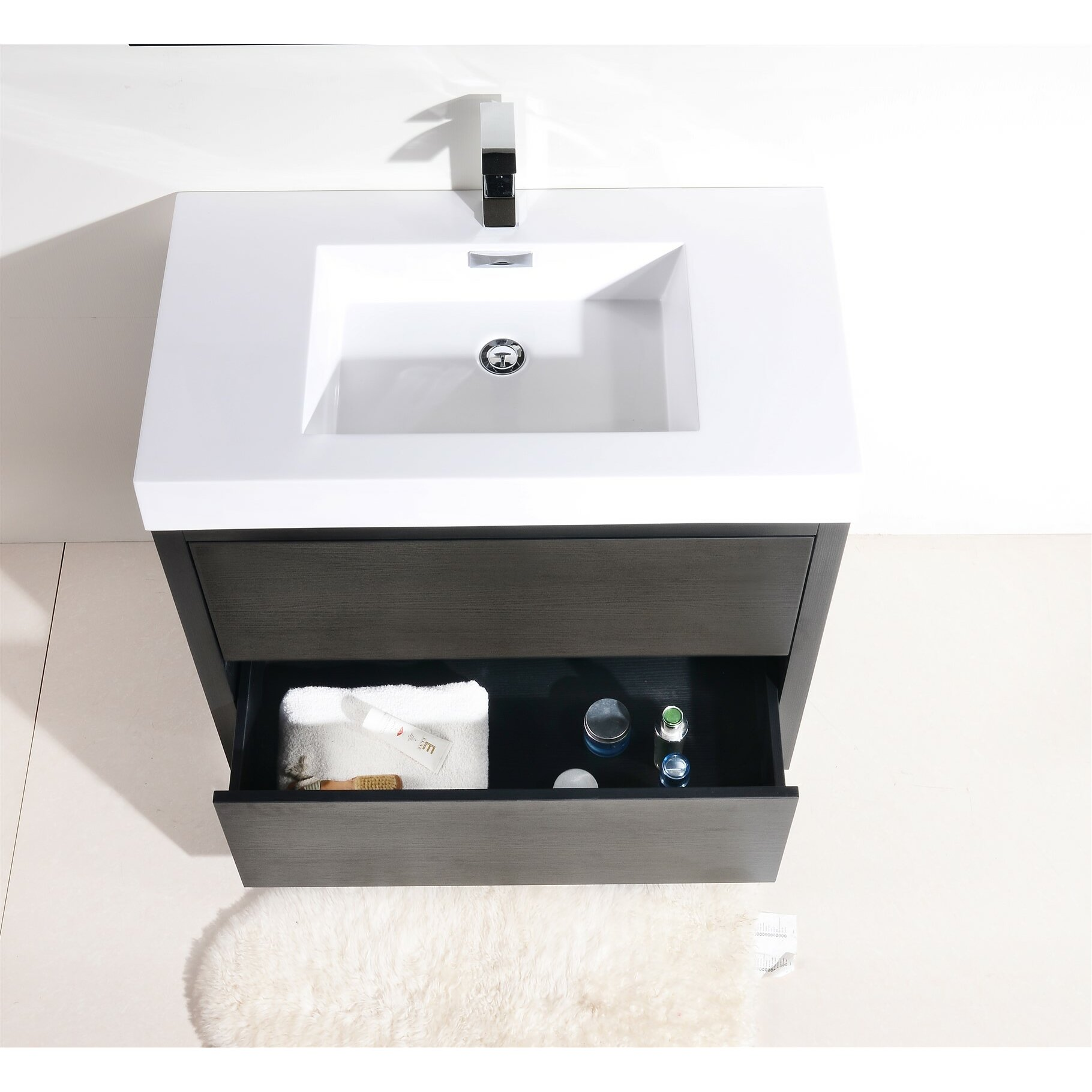 kube bath bliss 36 single free standing modern bathroom vanity chardonnay 36inch