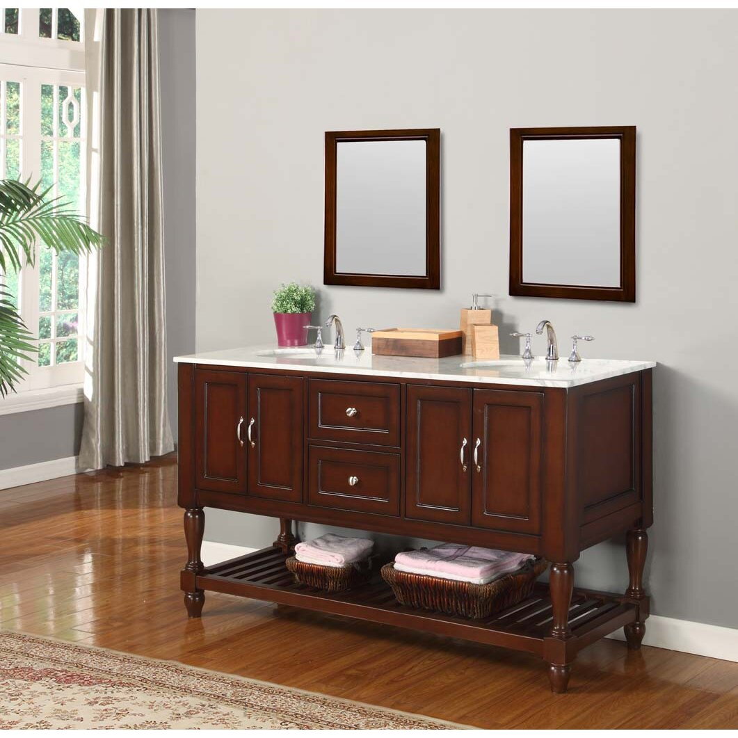 Double bathroom vanity - Direct Vanity Sink Mission Turnleg Spa 60 Quot Double Bathroom Vanity Set