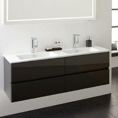 primabad 120 cm wandmontierter waschbeckenunterschrank. Black Bedroom Furniture Sets. Home Design Ideas