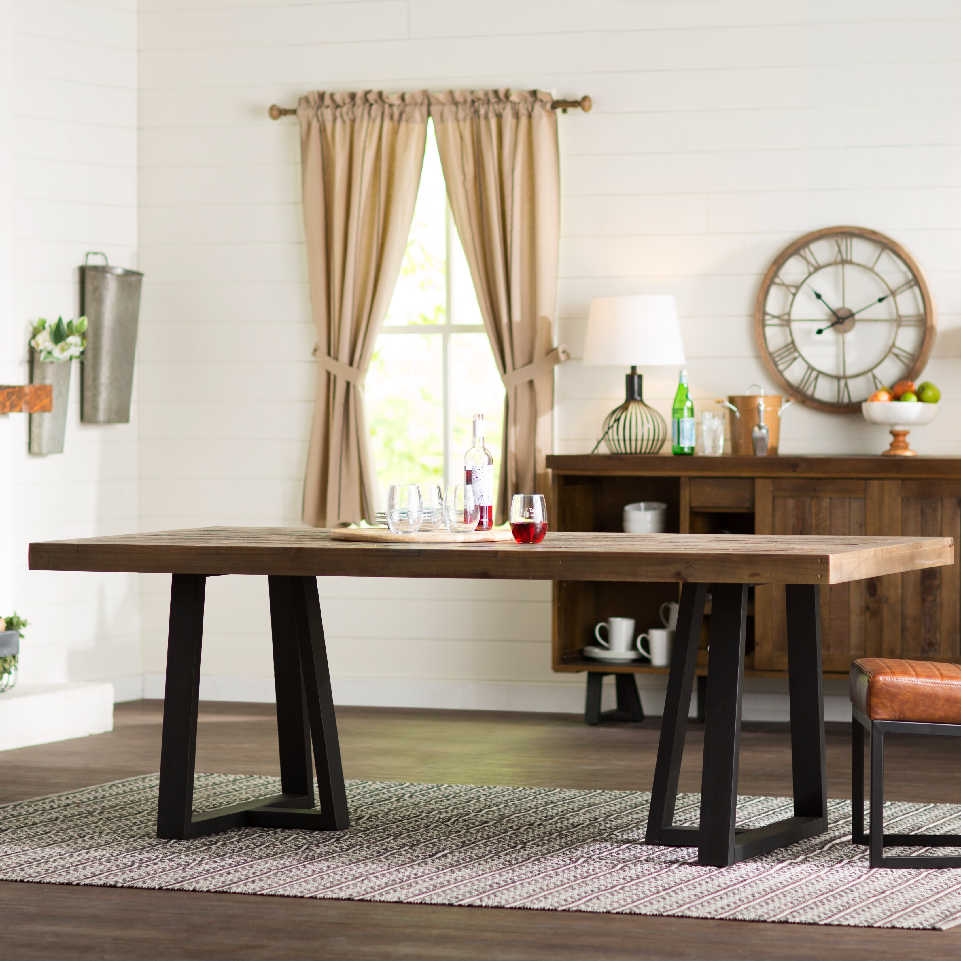 laurel foundry modern farmhouse adell dining table reviews f