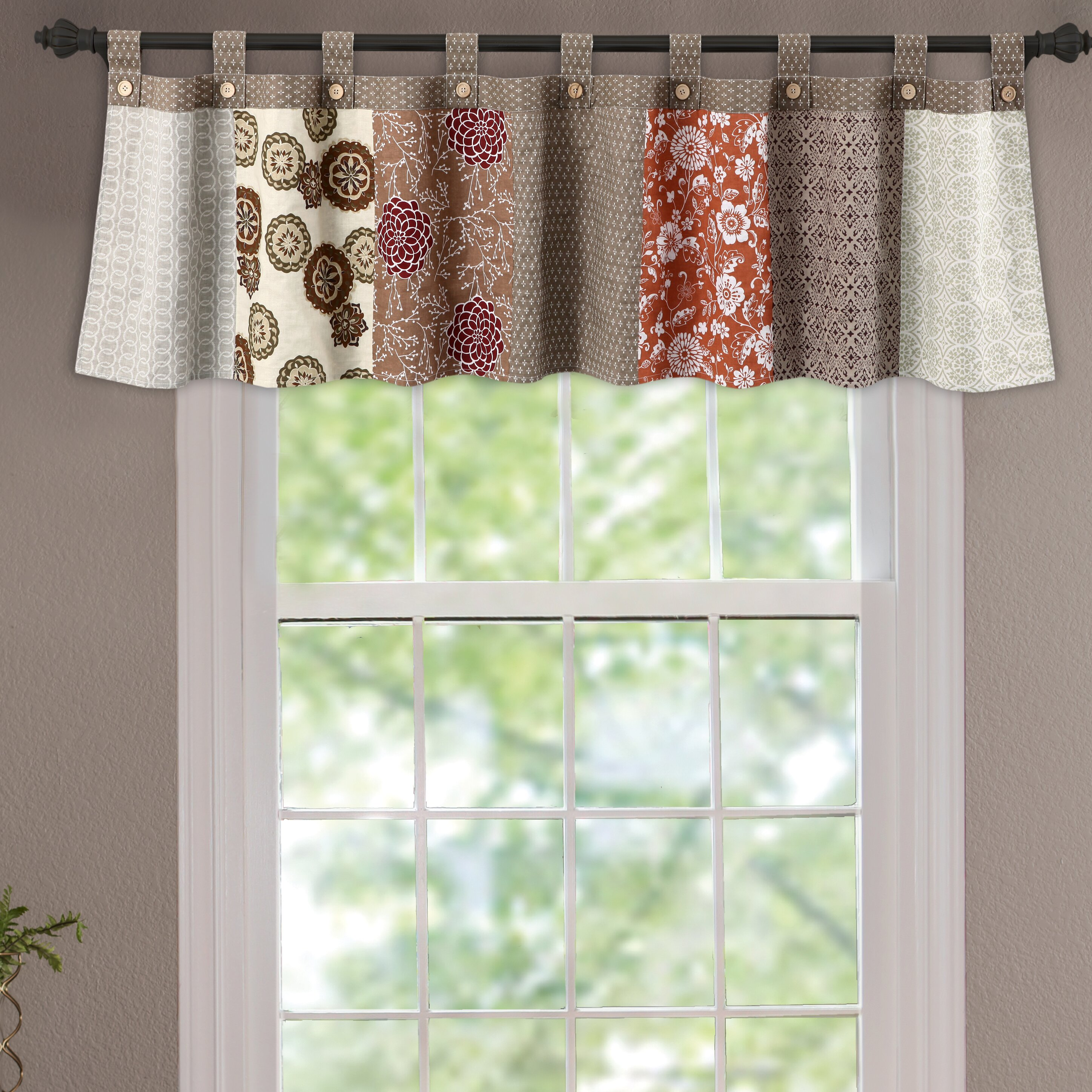 Cafe curtains for bedroom - Stella Tab Top Tailored 84 Curtain Valance