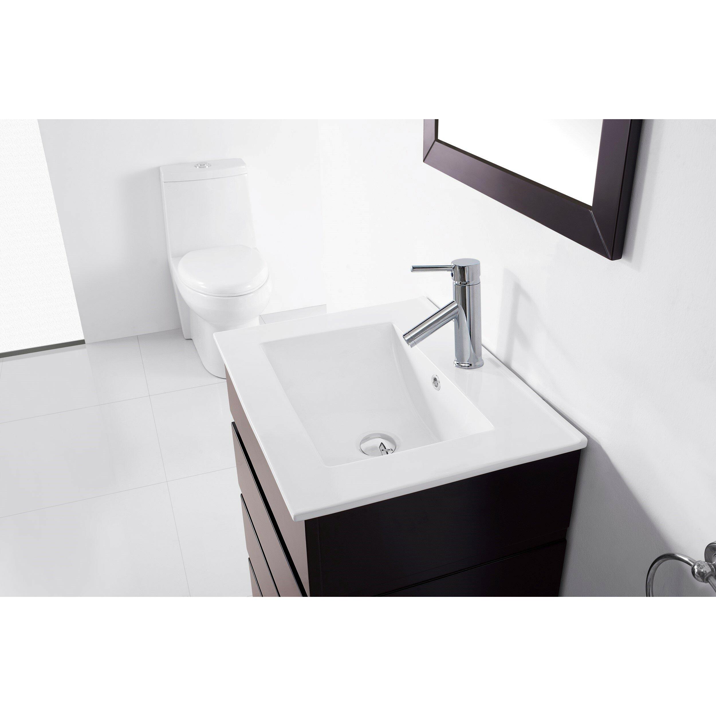 Bruno 24 single contemporary bathroom vanity set with for All modern bathroom vanity