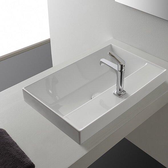 scarabeo by nameeks teorema rectangular vessel bathroom sink with overflow