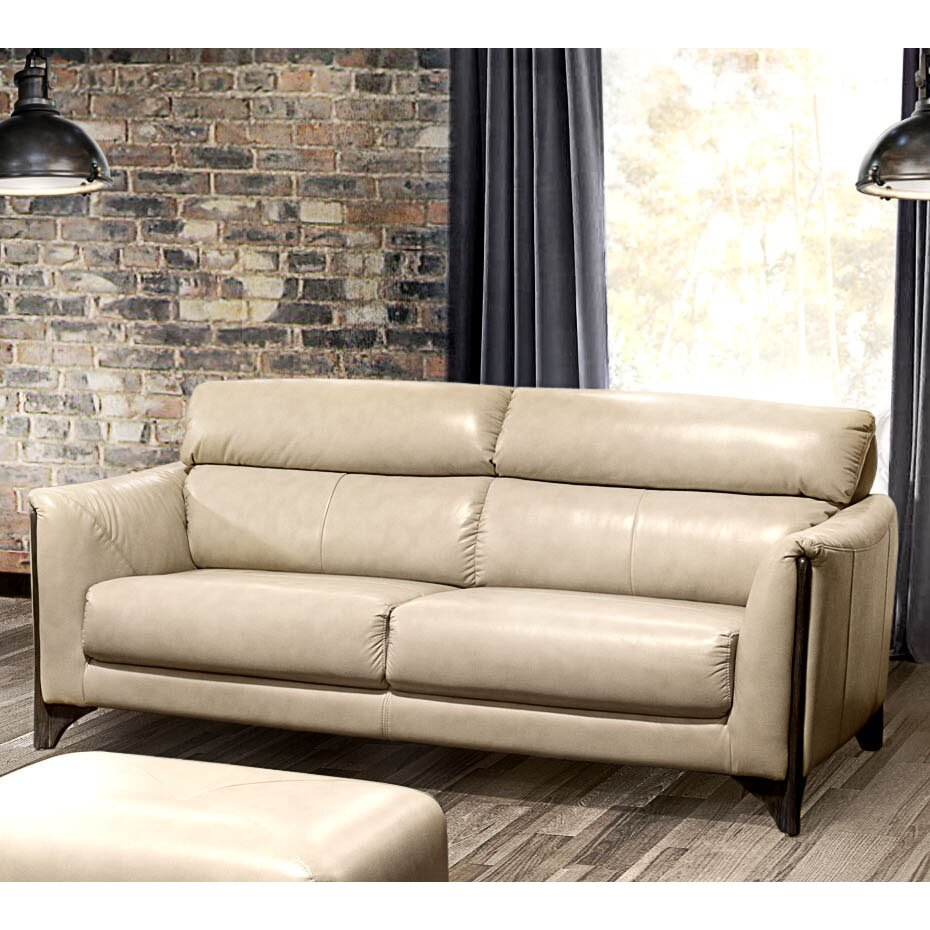 Diamond sofa monaco leather sofa reviews for Furniture 2 day shipping