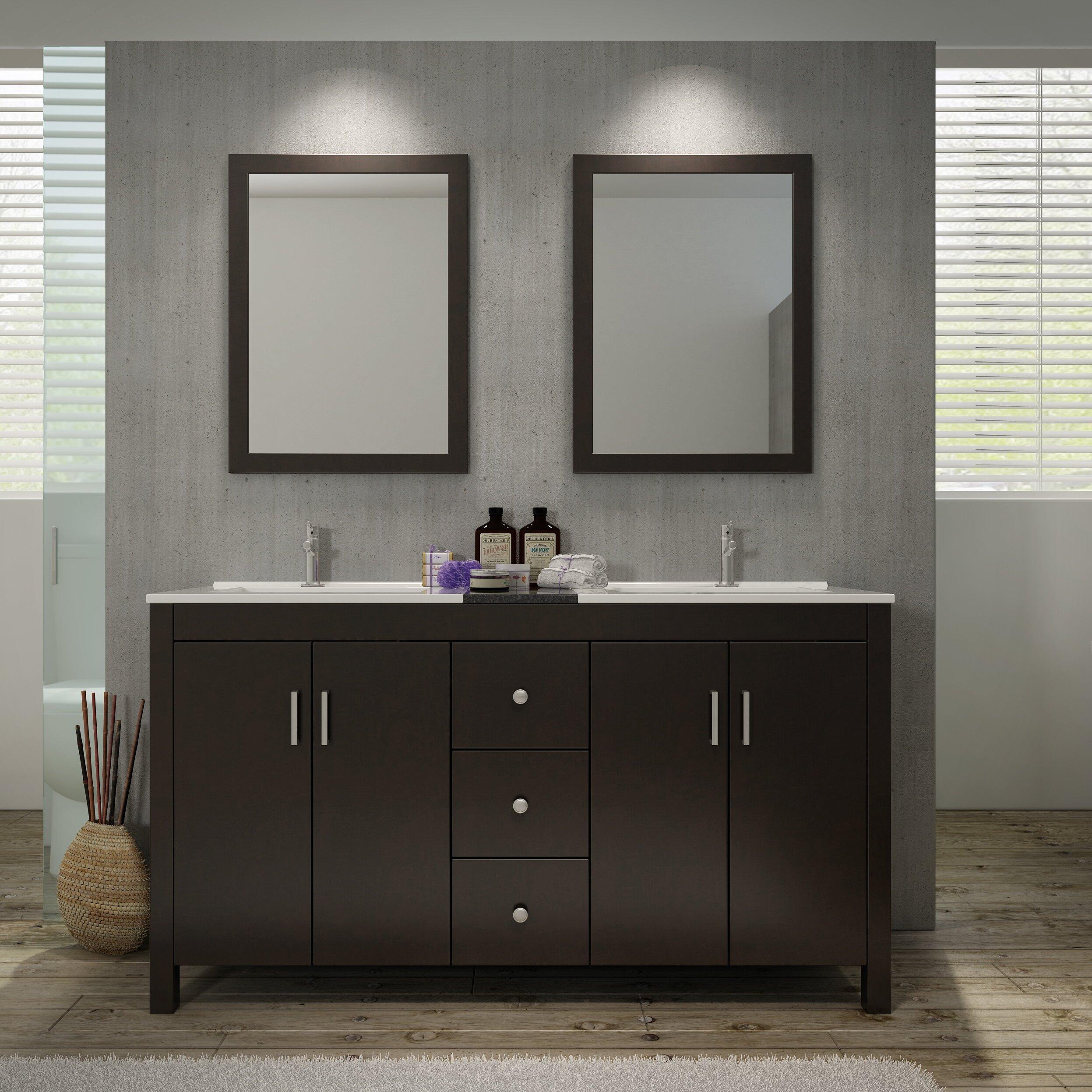 """ariel bath hanson """" double bathroom vanity set with mirror, Bathroom decor"""