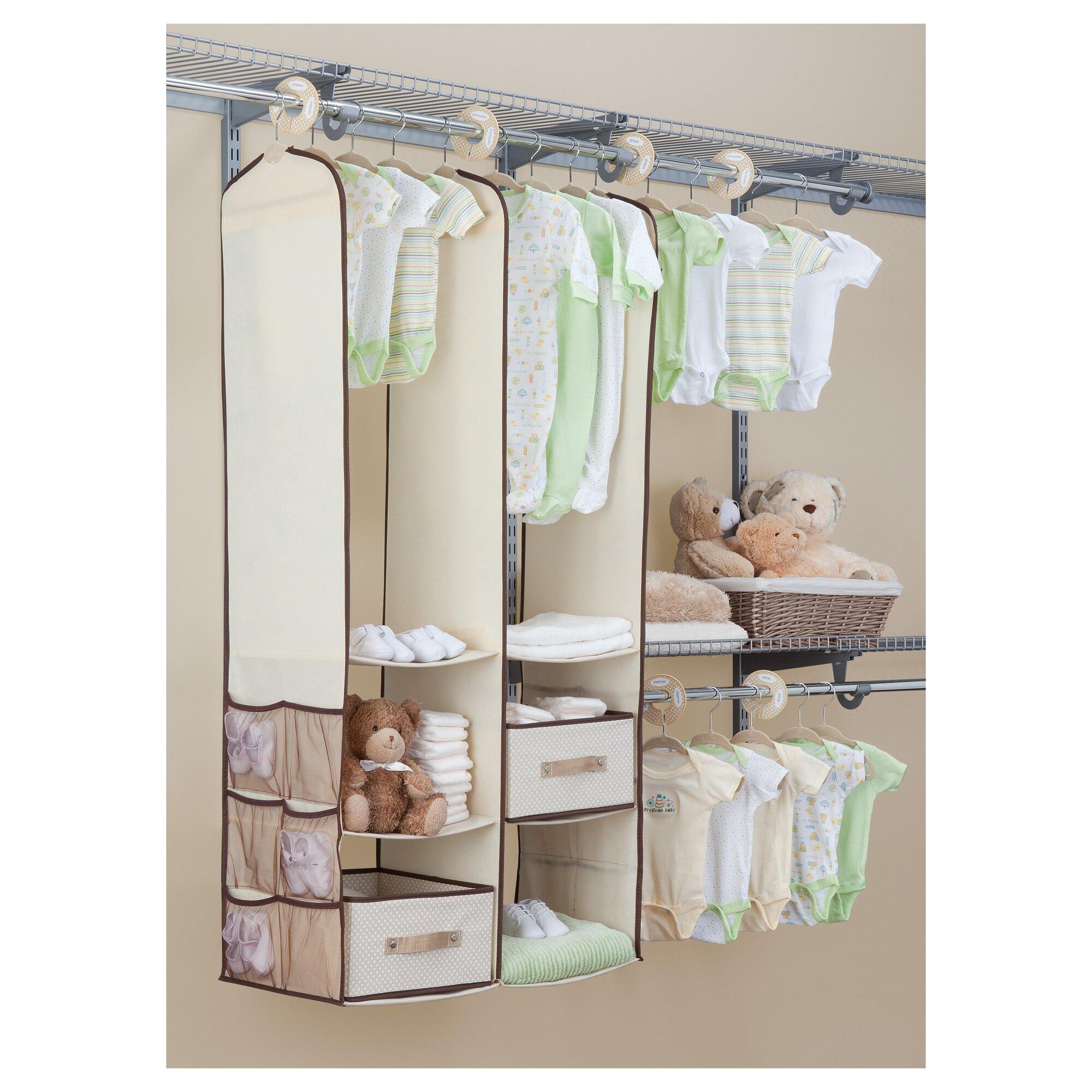 Delta Children Deep Nursery Closet Organizer 24 Piece Set