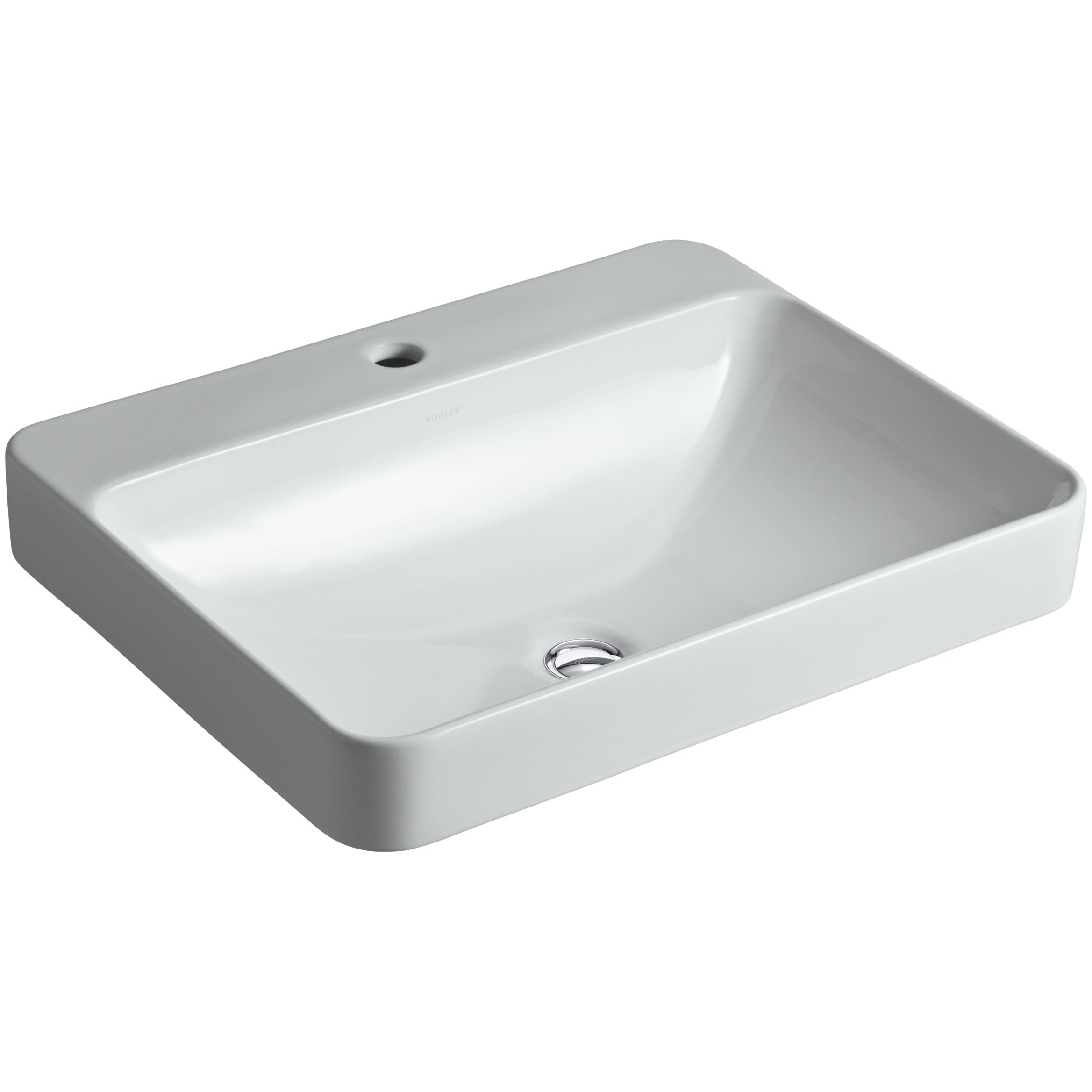 kohler square bathroom sink kohler vox rectangular vessel bathroom sink amp reviews 19034