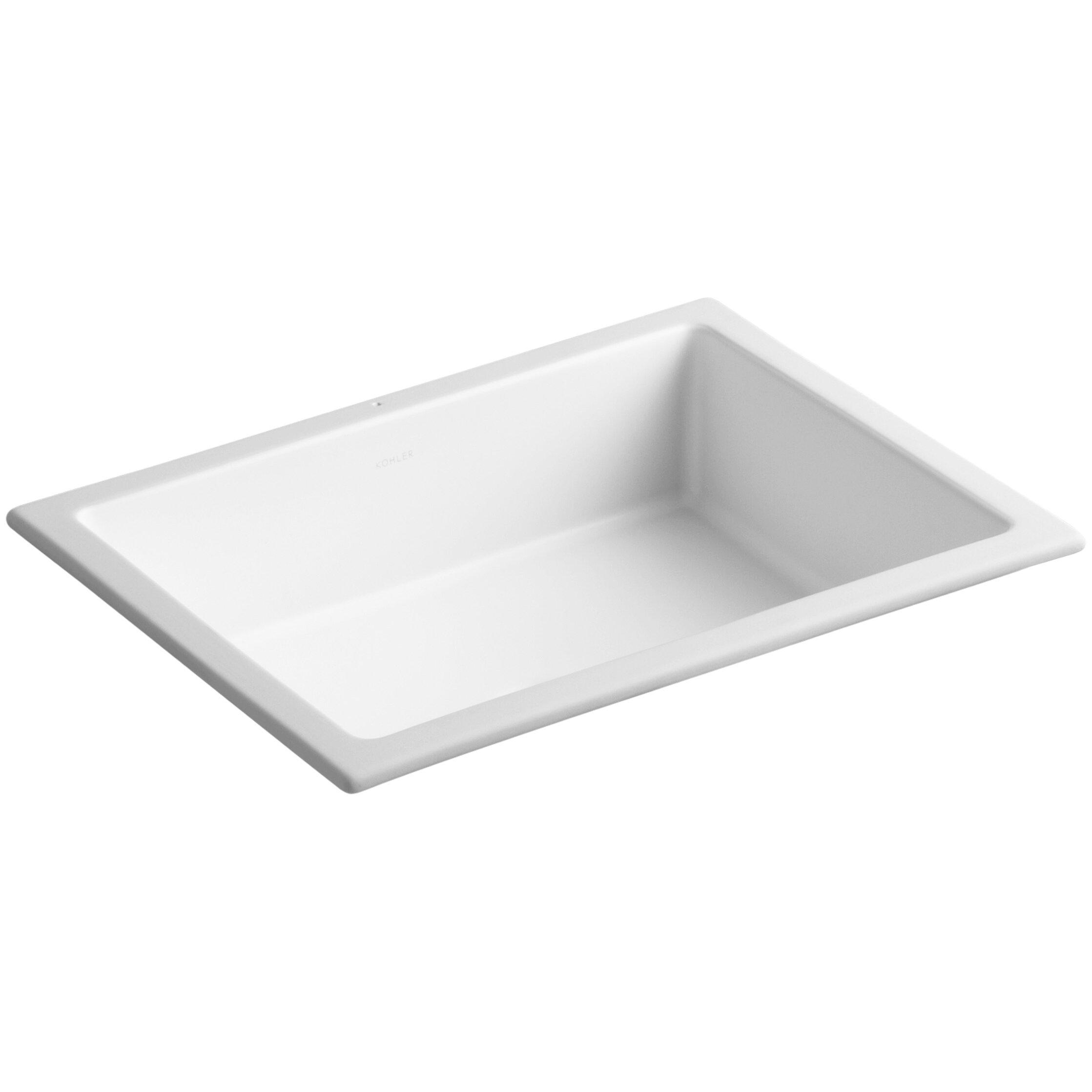 Kohler Verticyl Rectangular Undermount Bathroom Sink with Overflow. Kohler Verticyl Rectangular Undermount Bathroom Sink with Overflow