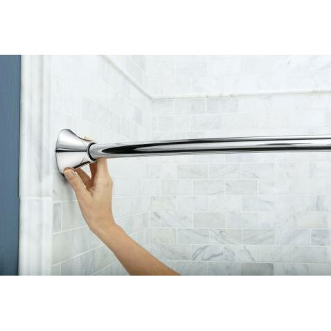 Moen 60 Adjustable Curved Tension Shower Curtain Rod Reviews Wayfair