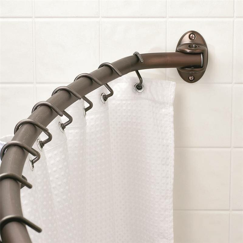 Zenith 72 Adjustable Curved Fixed Shower Curtain Rod Reviews Wayfair