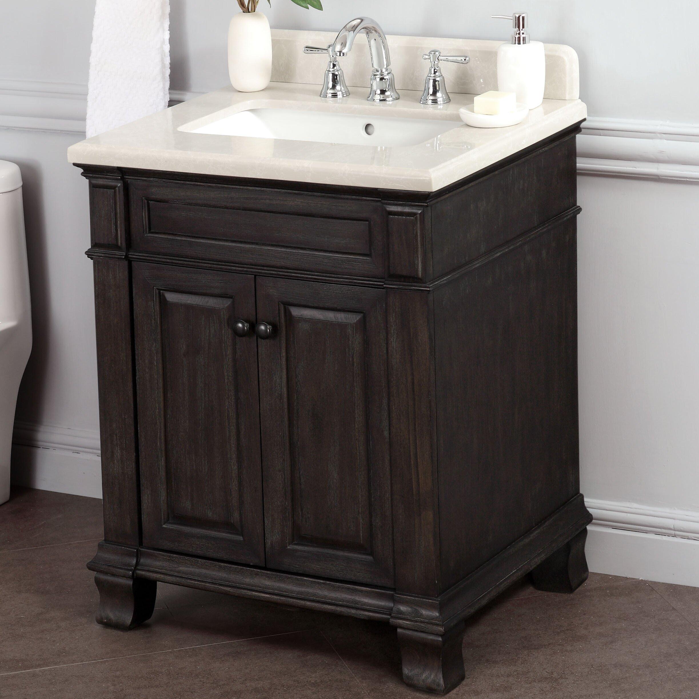 Driftwood Bathroom Vanity Lanza Kingsley 28 Single Bathroom Vanity Set Reviews Wayfair